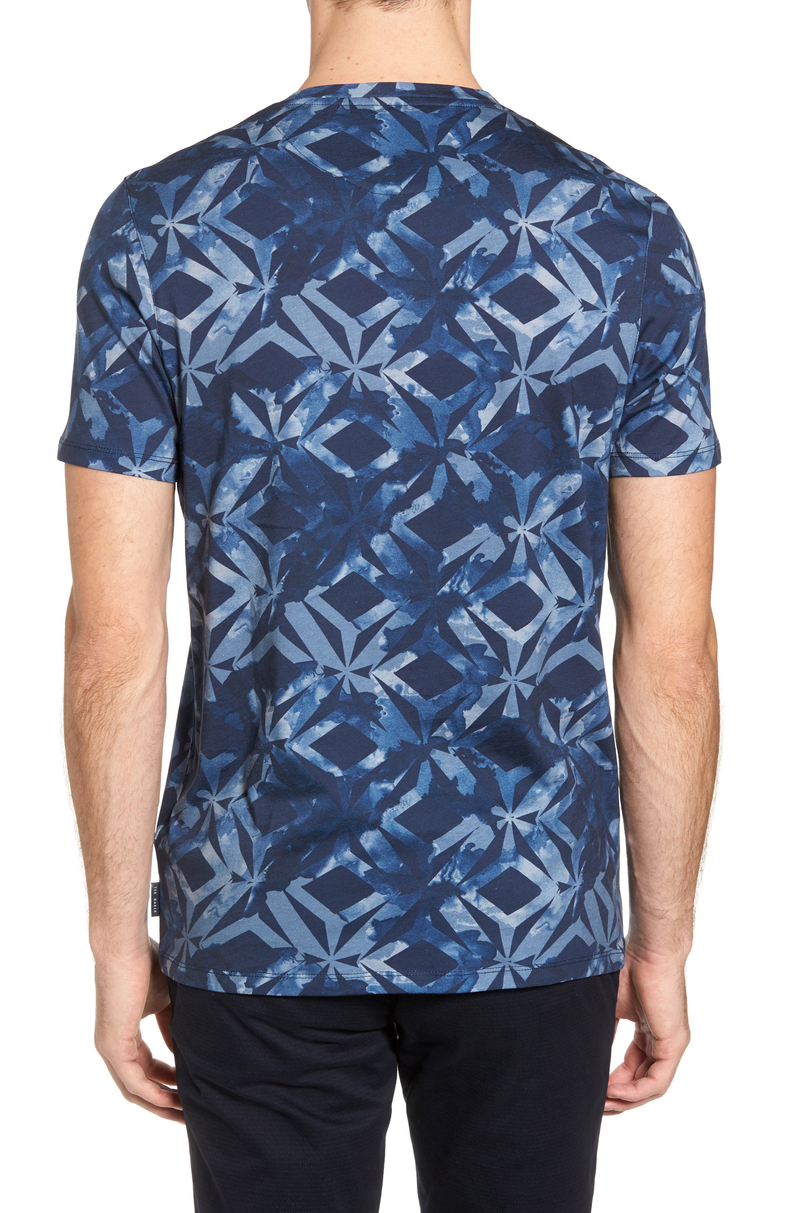 Woof Batik Print T-Shirt,                             Alternate thumbnail 2, color,                             Dark Blue