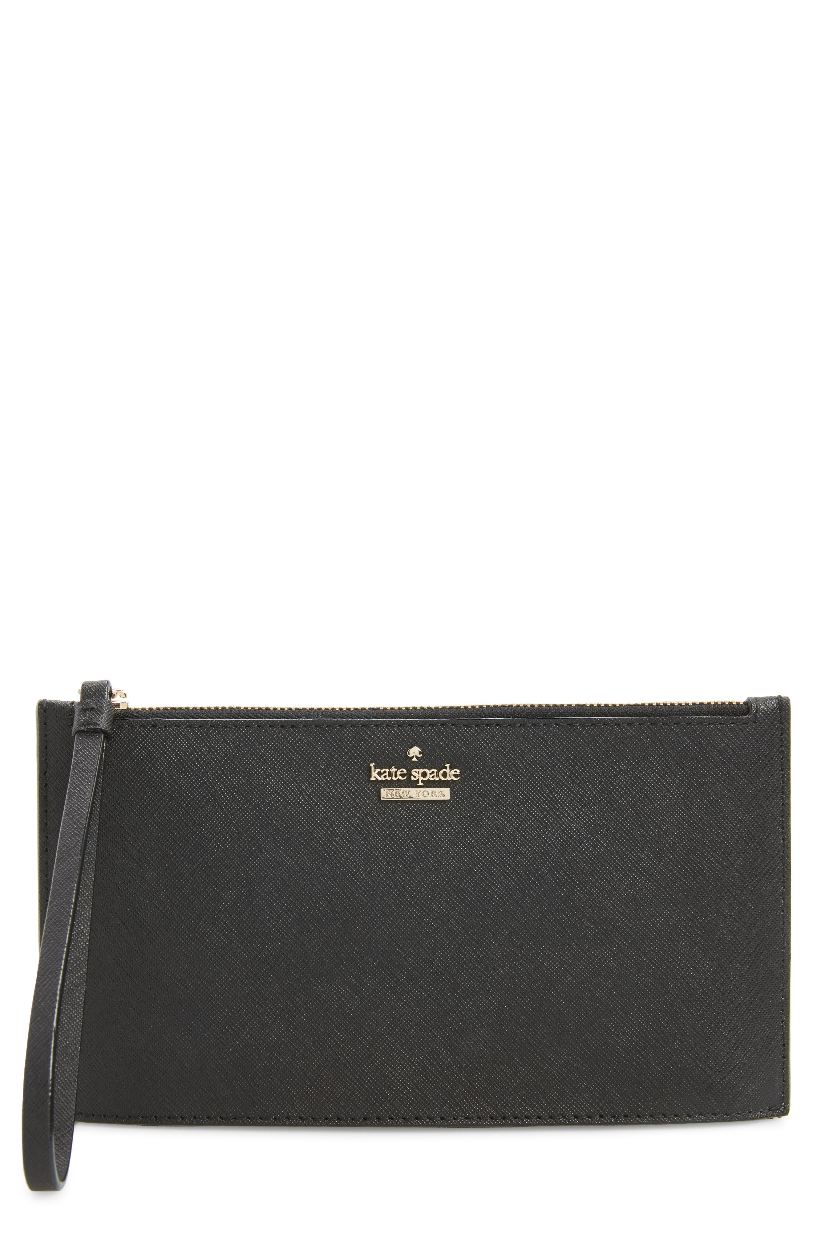 cameron street ariah leather wristlet,                         Main,                         color, Black