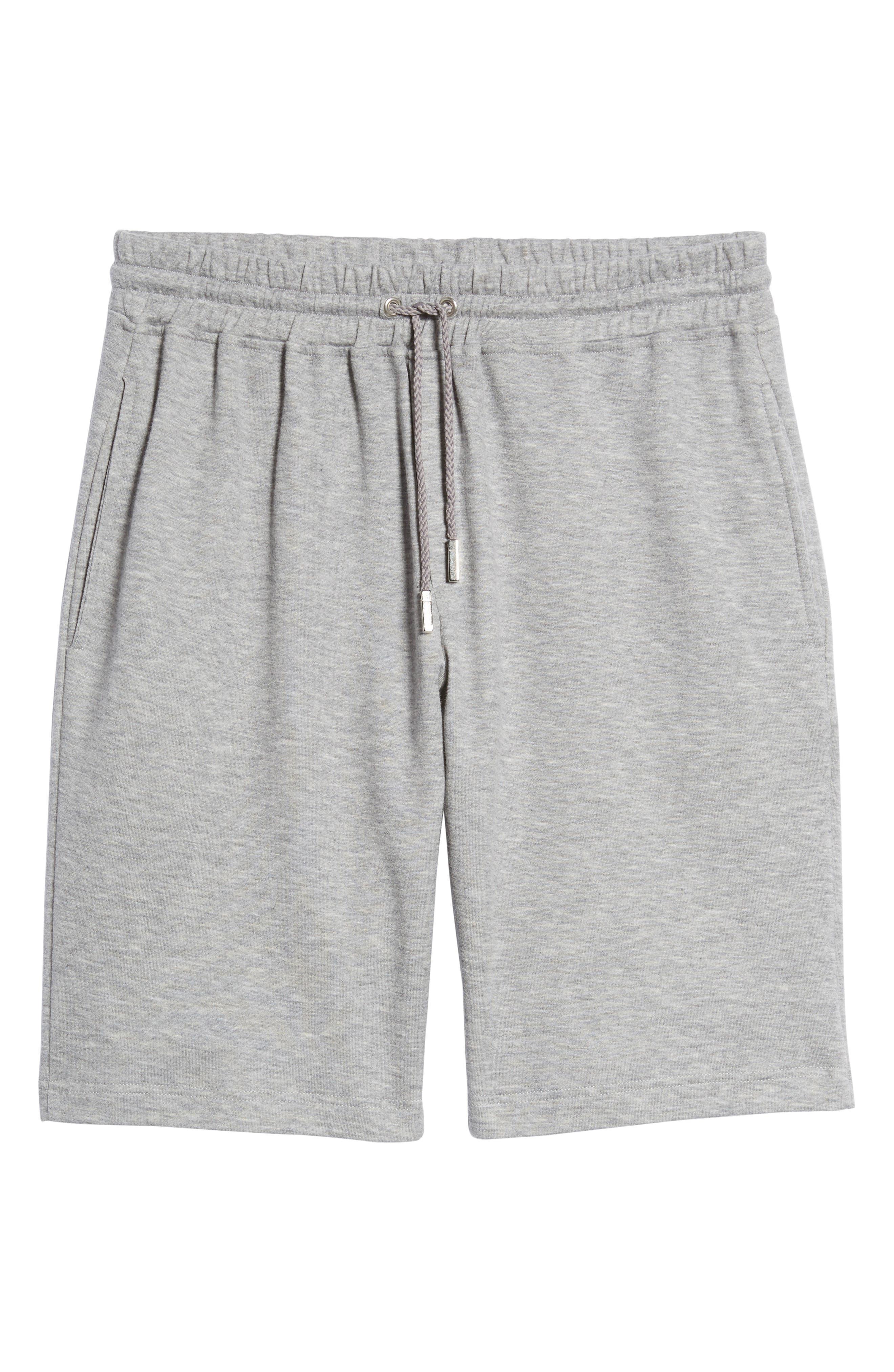 Drawstring Knit Shorts,                             Alternate thumbnail 6, color,                             Light Grey
