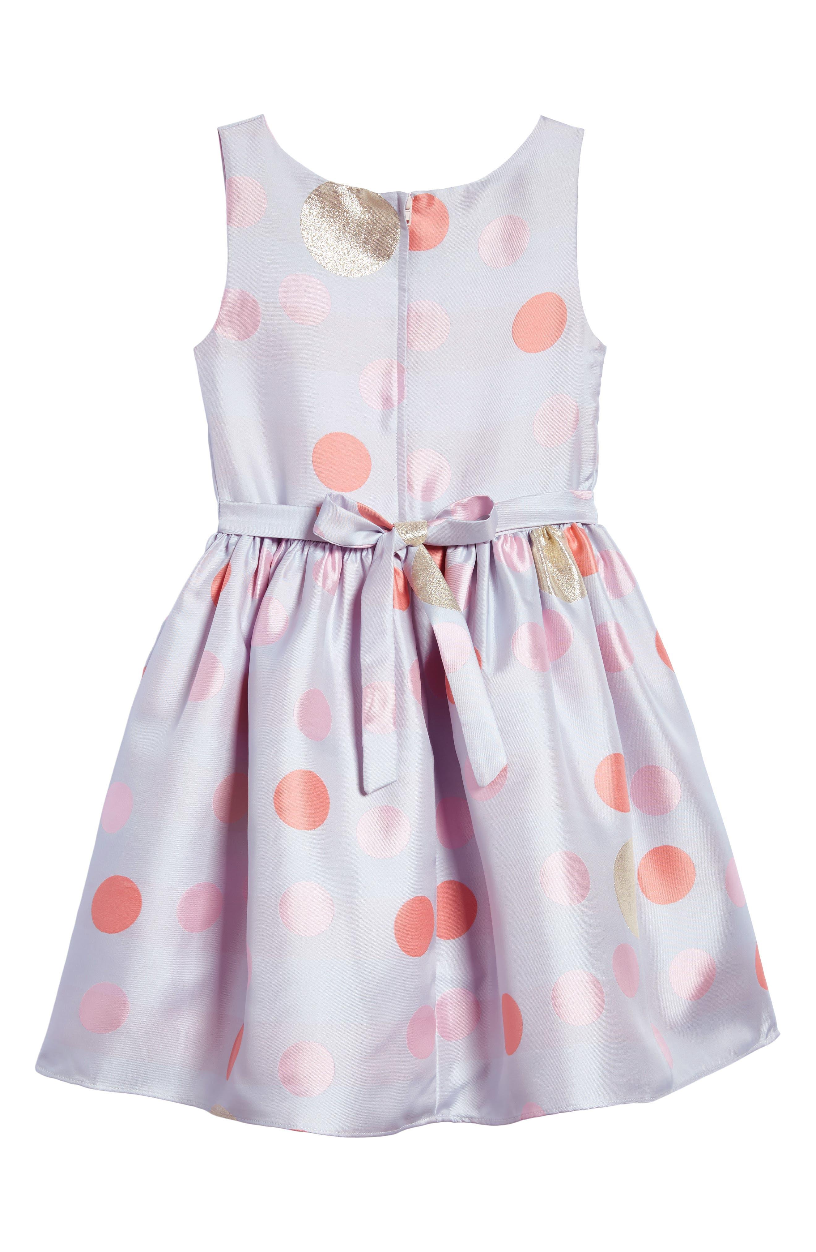 Alternate Image 2  - Frais Metallic Polka Dot Dress (Toddler Girls, Little Girls & Big Girls)