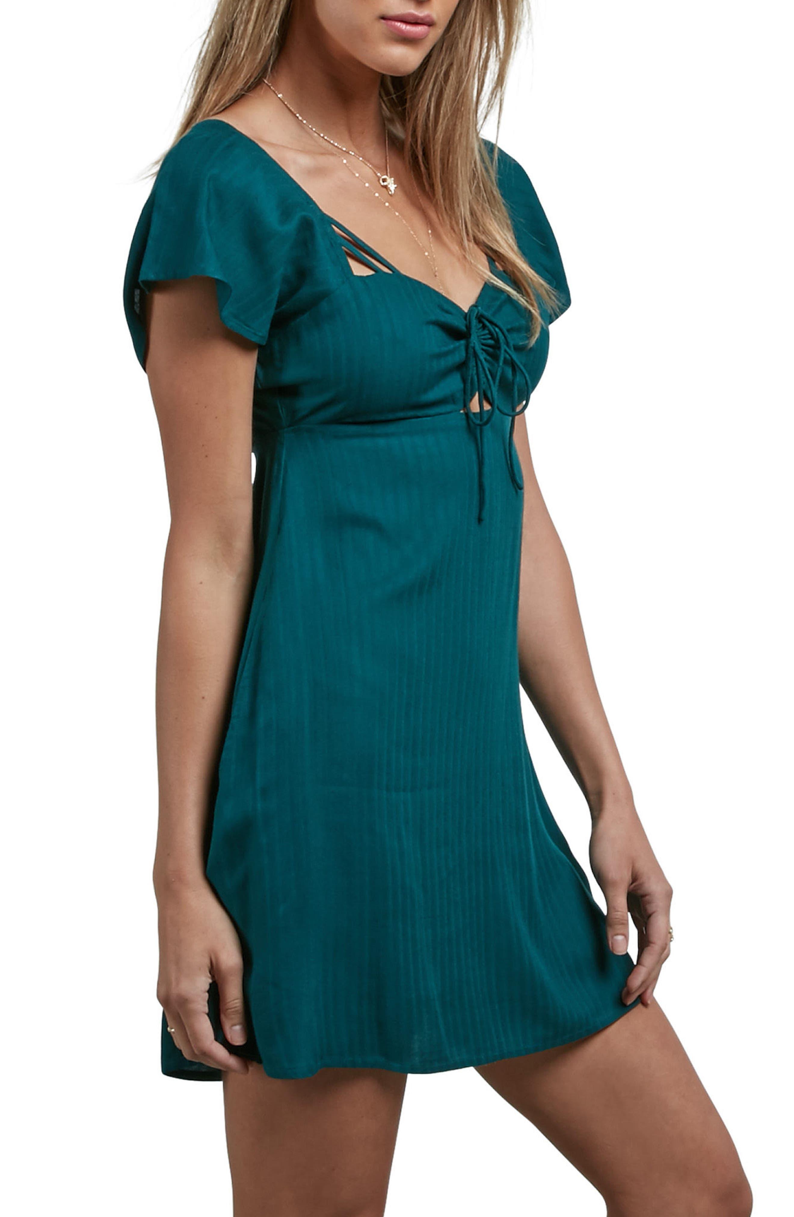 Alternate Image 4  - Volcom It's a Cinch Babydoll Dress