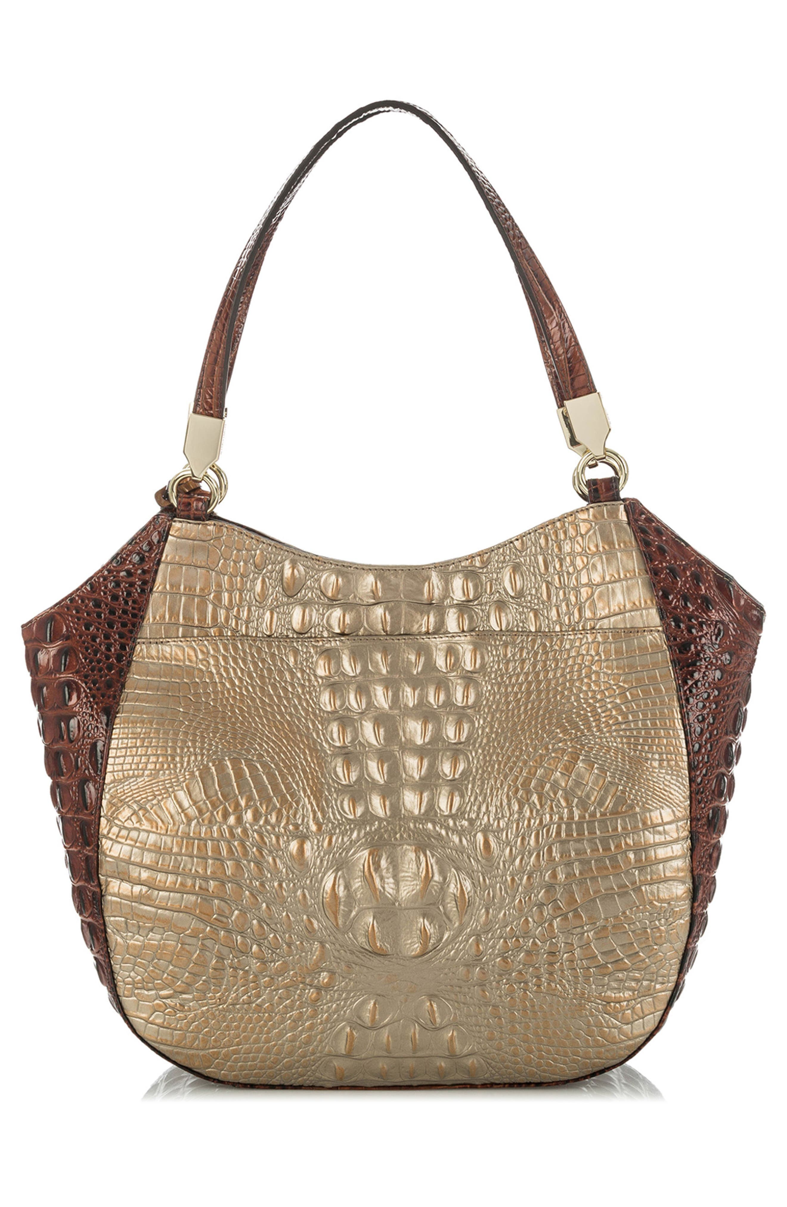 Marianna Croc Embossed Leather Tote,                             Alternate thumbnail 2, color,                             Rose Gold