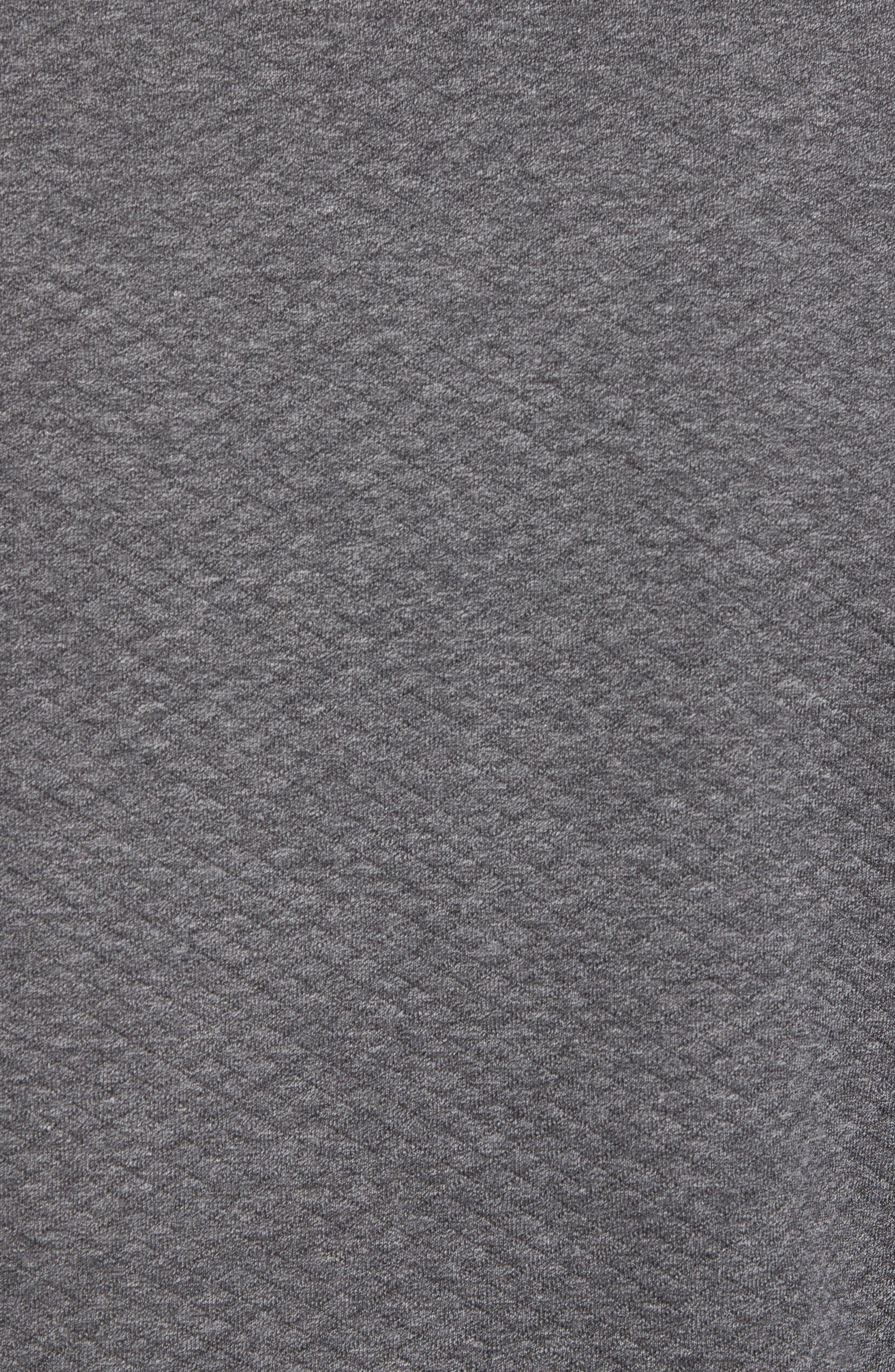 Sidney Quilted Quarter Zip Sweatshirt,                             Alternate thumbnail 5, color,                             Charcaol