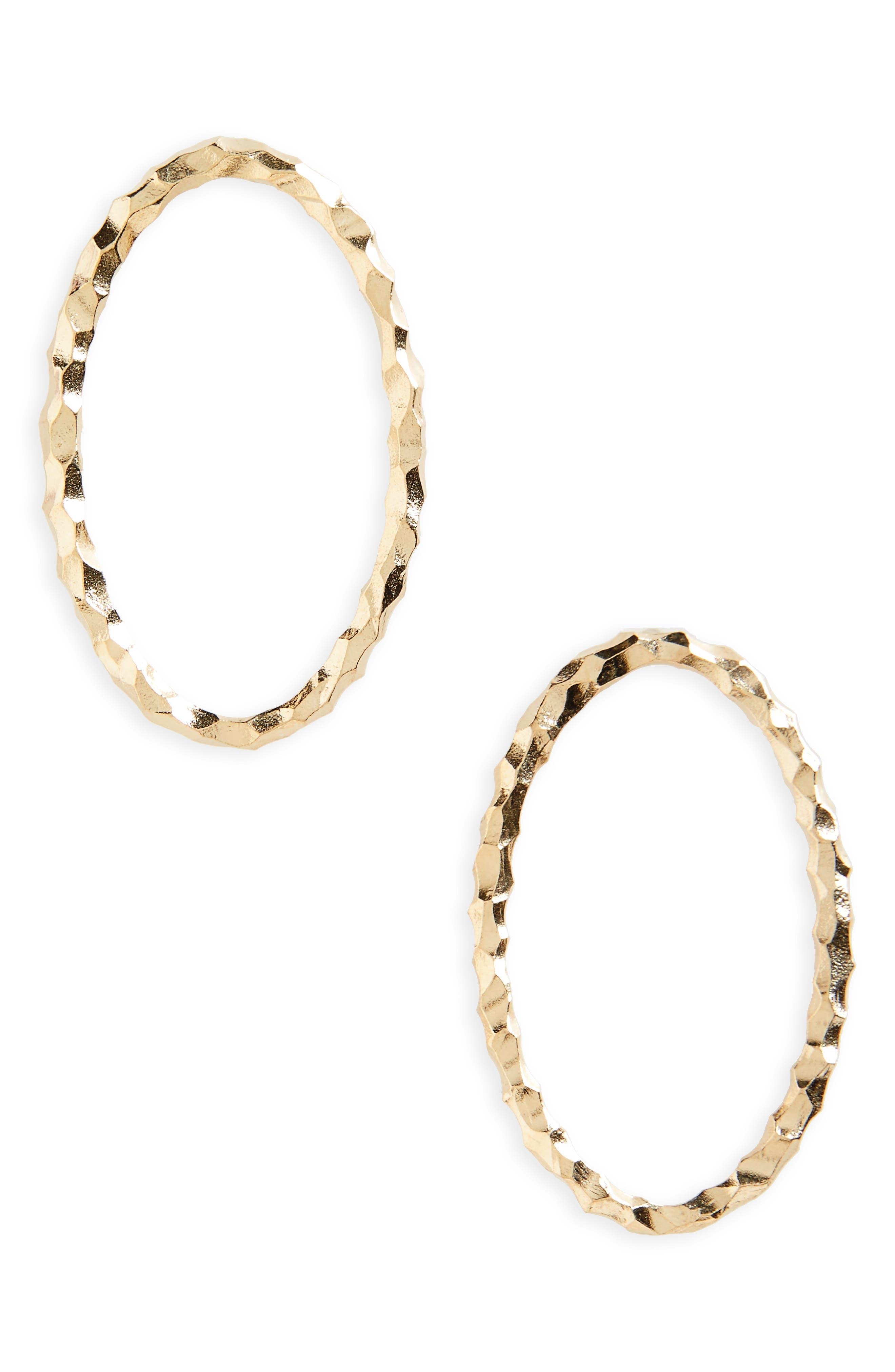 Large Ellipse Carved Vermeil Earrings,                         Main,                         color, Carved Vermeil