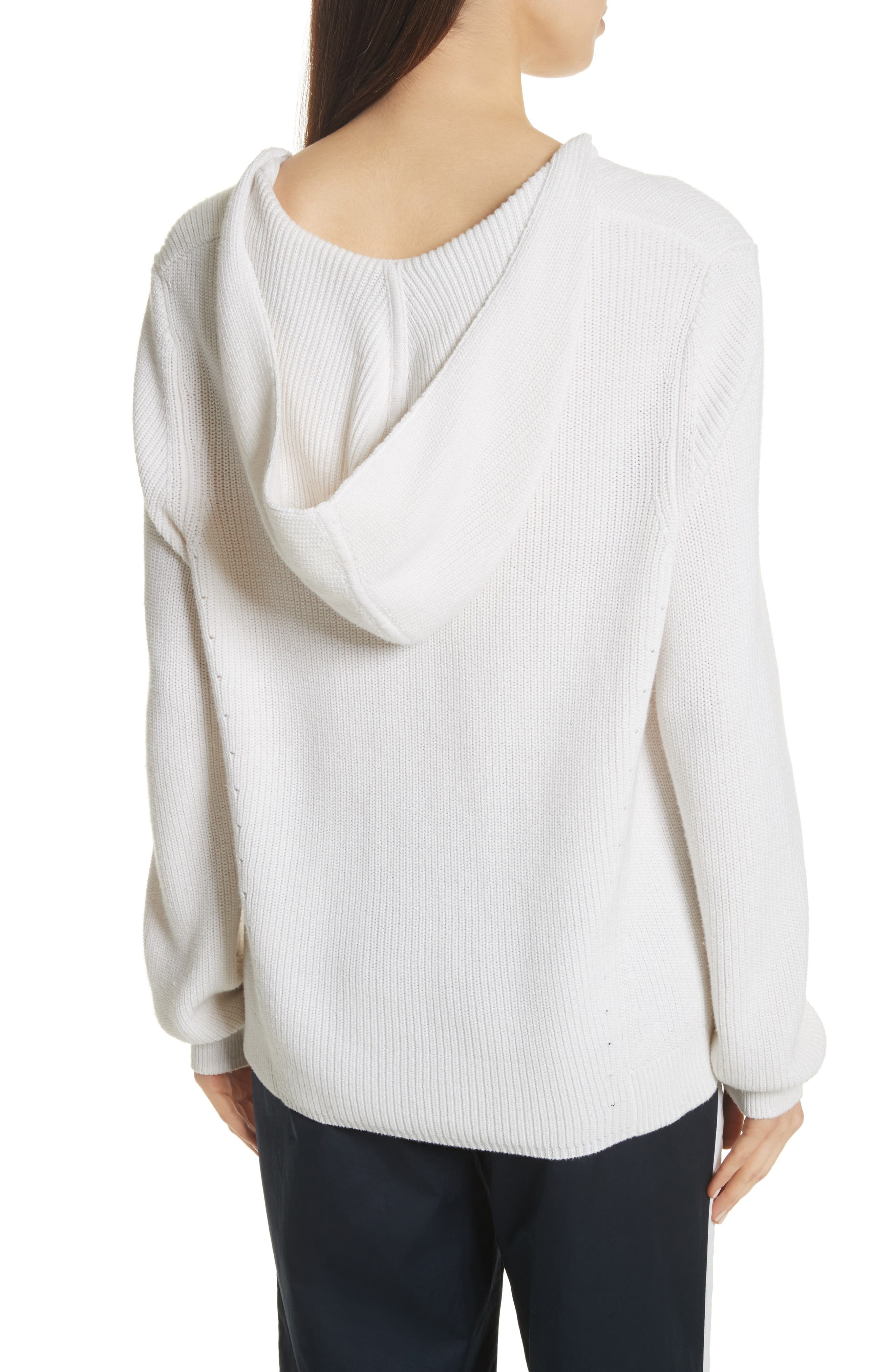 Octavia Hooded Sweater,                             Alternate thumbnail 2, color,                             Ivory