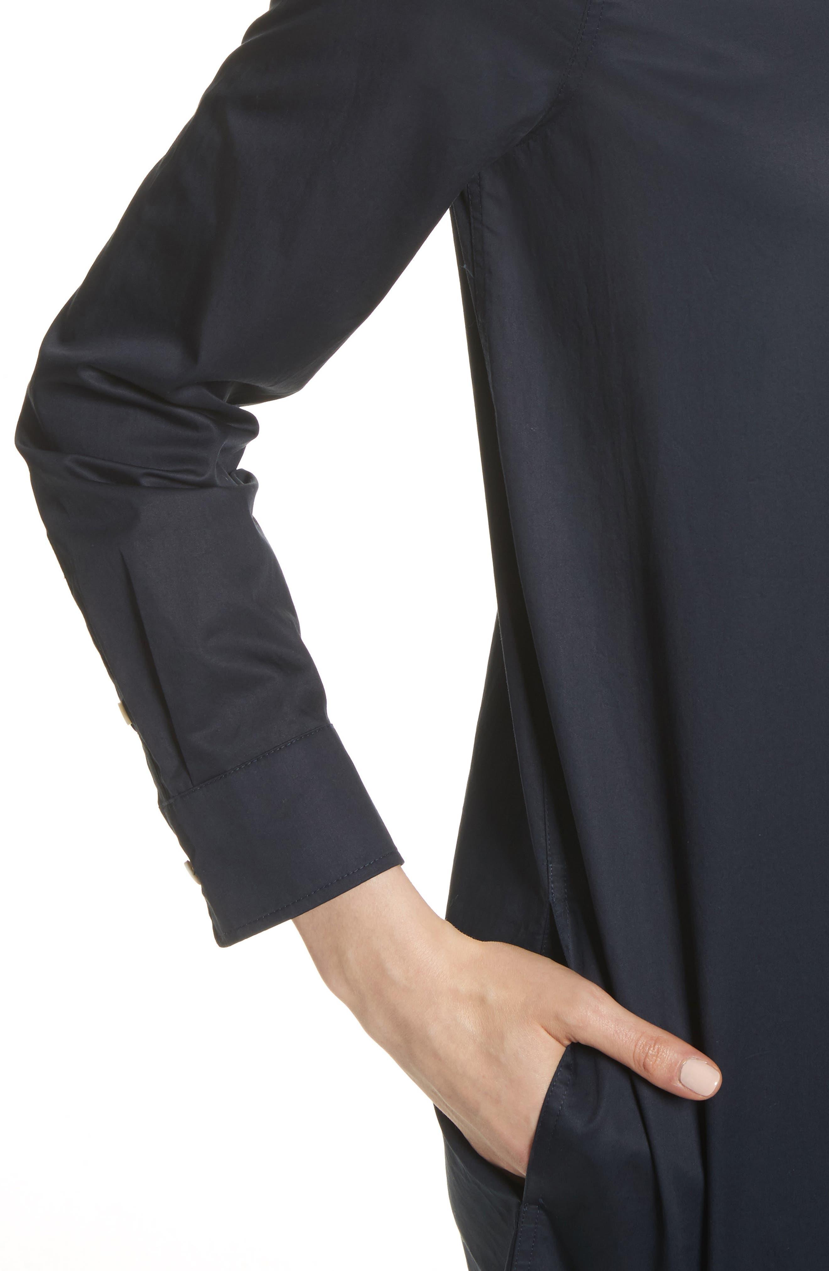 Carmine Cotton Shirtdress,                             Alternate thumbnail 4, color,                             Eclipse