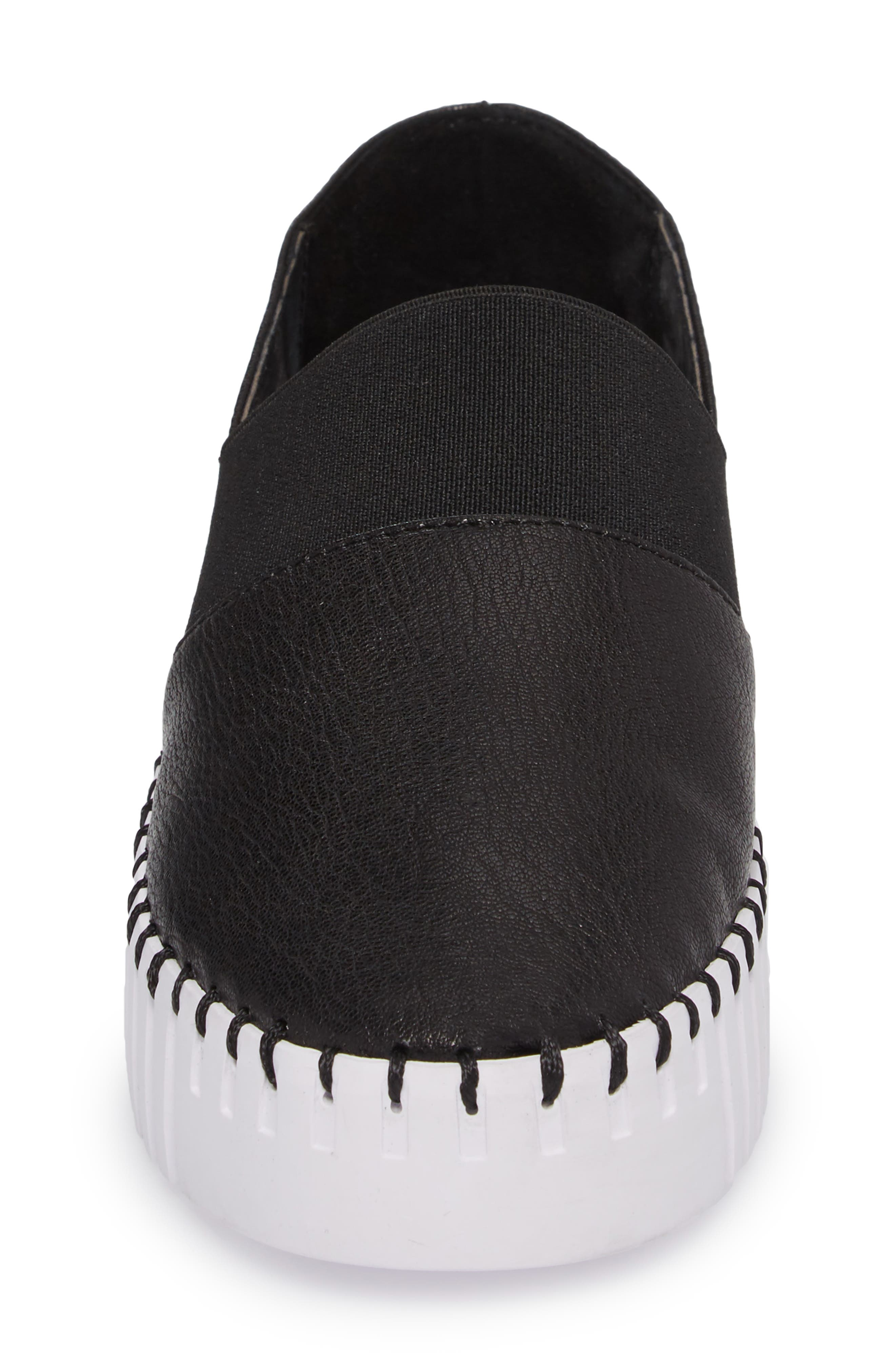 Cube Slip-On Platform Sneaker,                             Alternate thumbnail 5, color,                             Black Leather