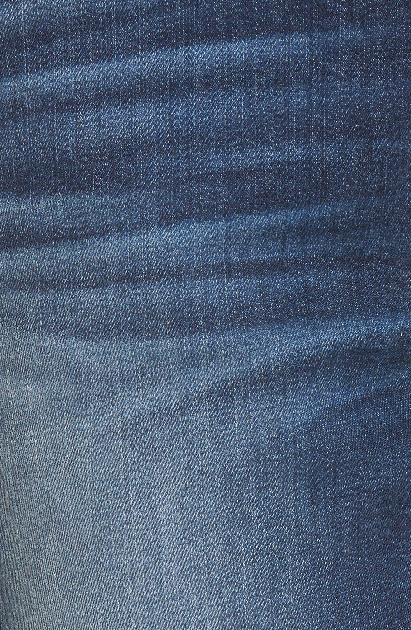Jimmy Jimmy High Waist Crop Boyfriend Jeans,                             Alternate thumbnail 6, color,                             Blue