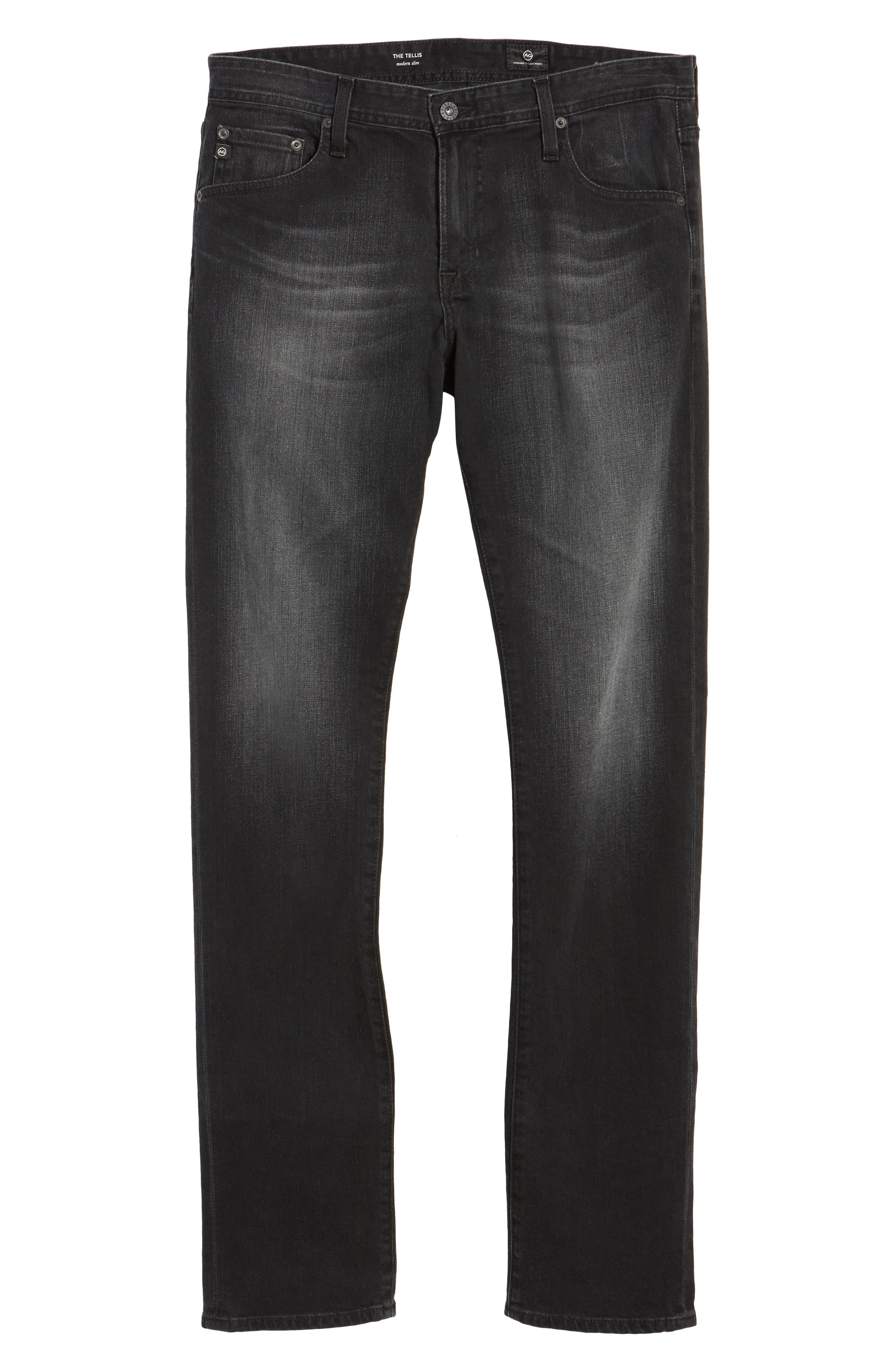 Tellis Modern Slim Fit Jeans,                             Alternate thumbnail 6, color,                             Smudged Black