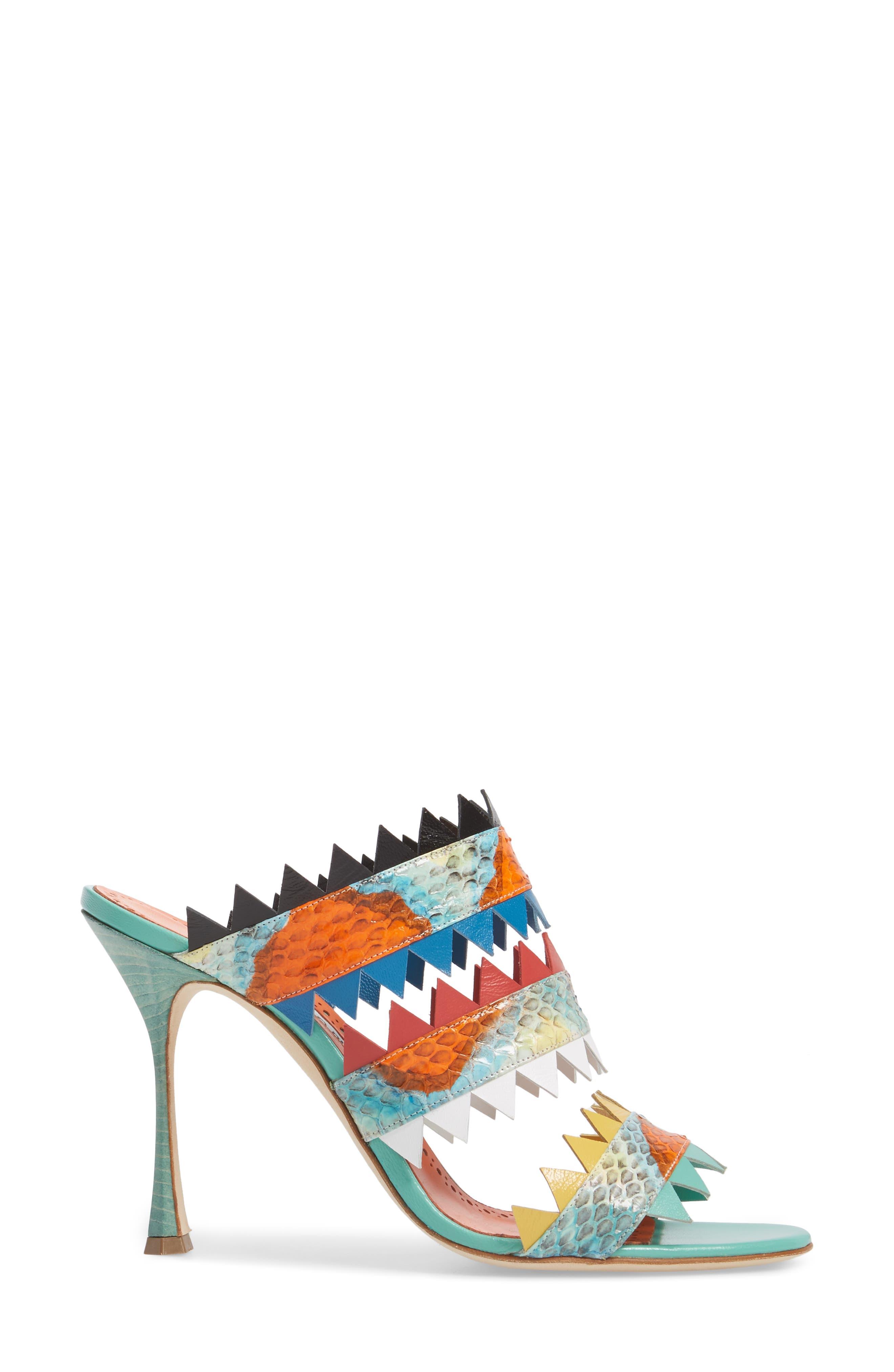 Arpege Mule Sandal,                             Alternate thumbnail 3, color,                             Watersnake Multi