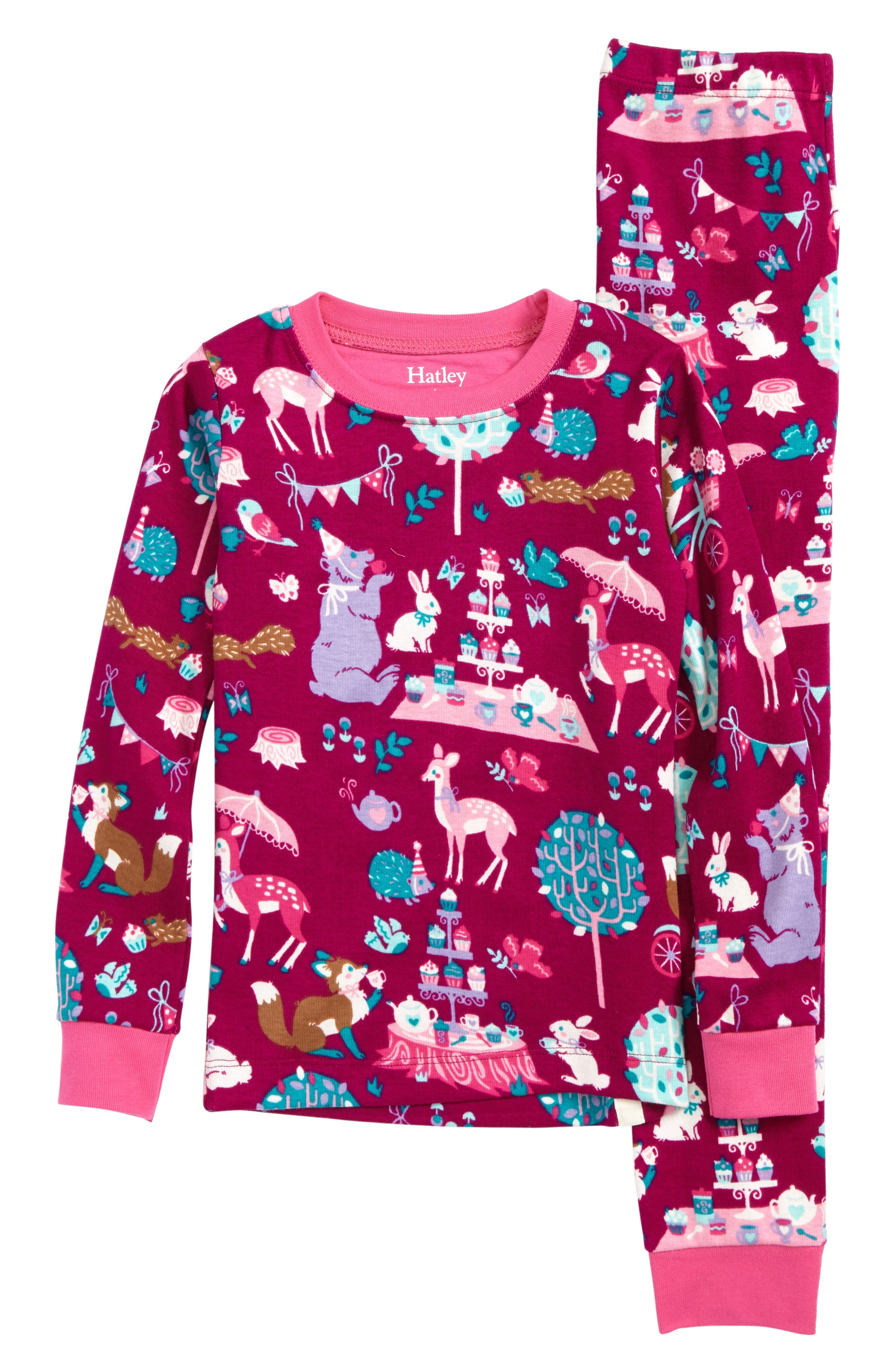 Hatley Tea Party Fitted Two-Piece Pajamas (Toddler Girls, Little Girls & Big Girls)