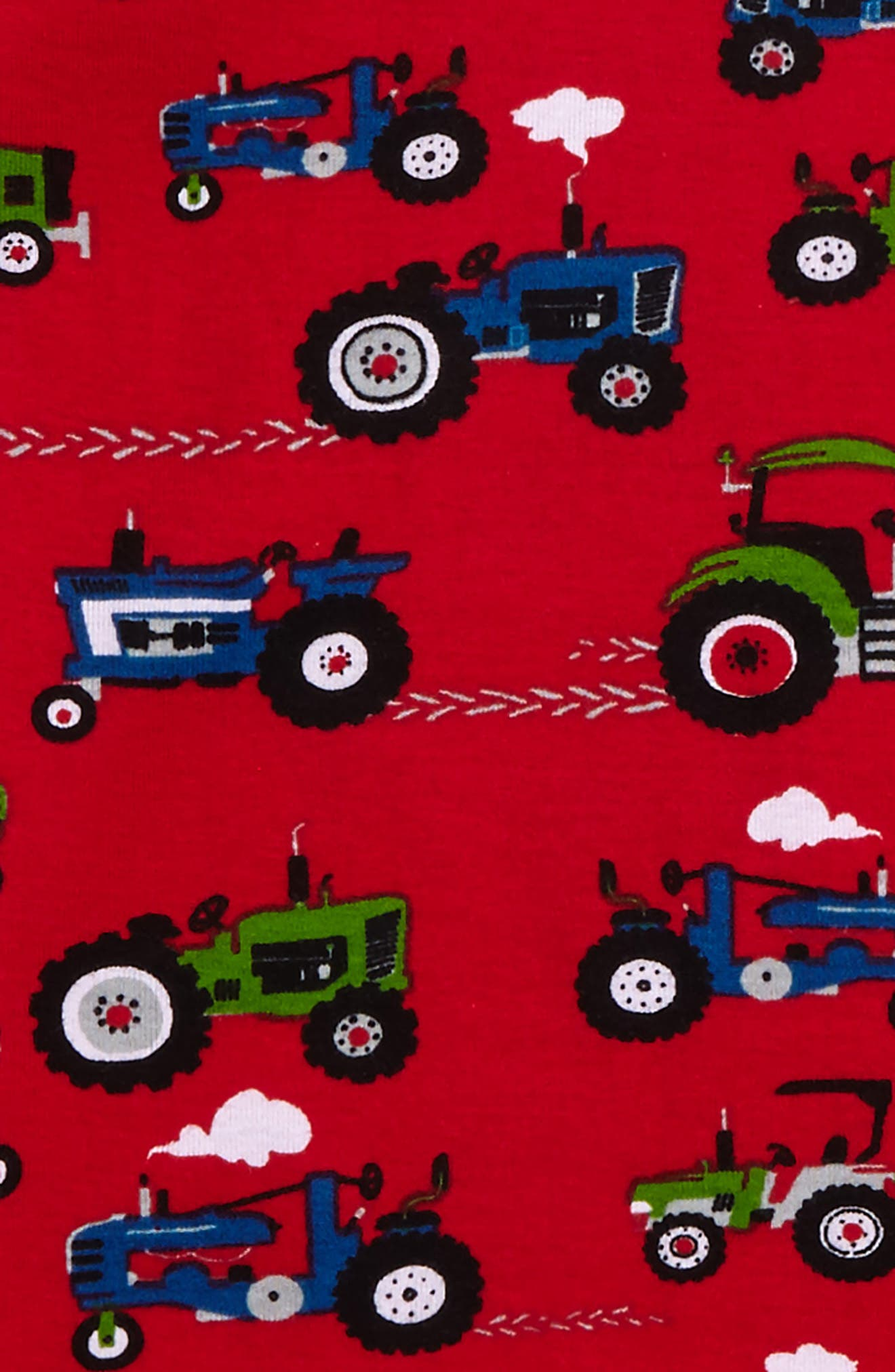 Organic Cotton Fitted Two-Piece Pajamas,                             Alternate thumbnail 2, color,                             Farm Tractors