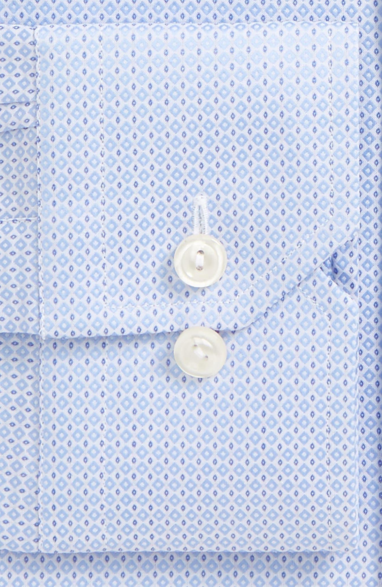 Contemporary Fit Geometric Dress Shirt,                             Alternate thumbnail 4, color,                             Blue