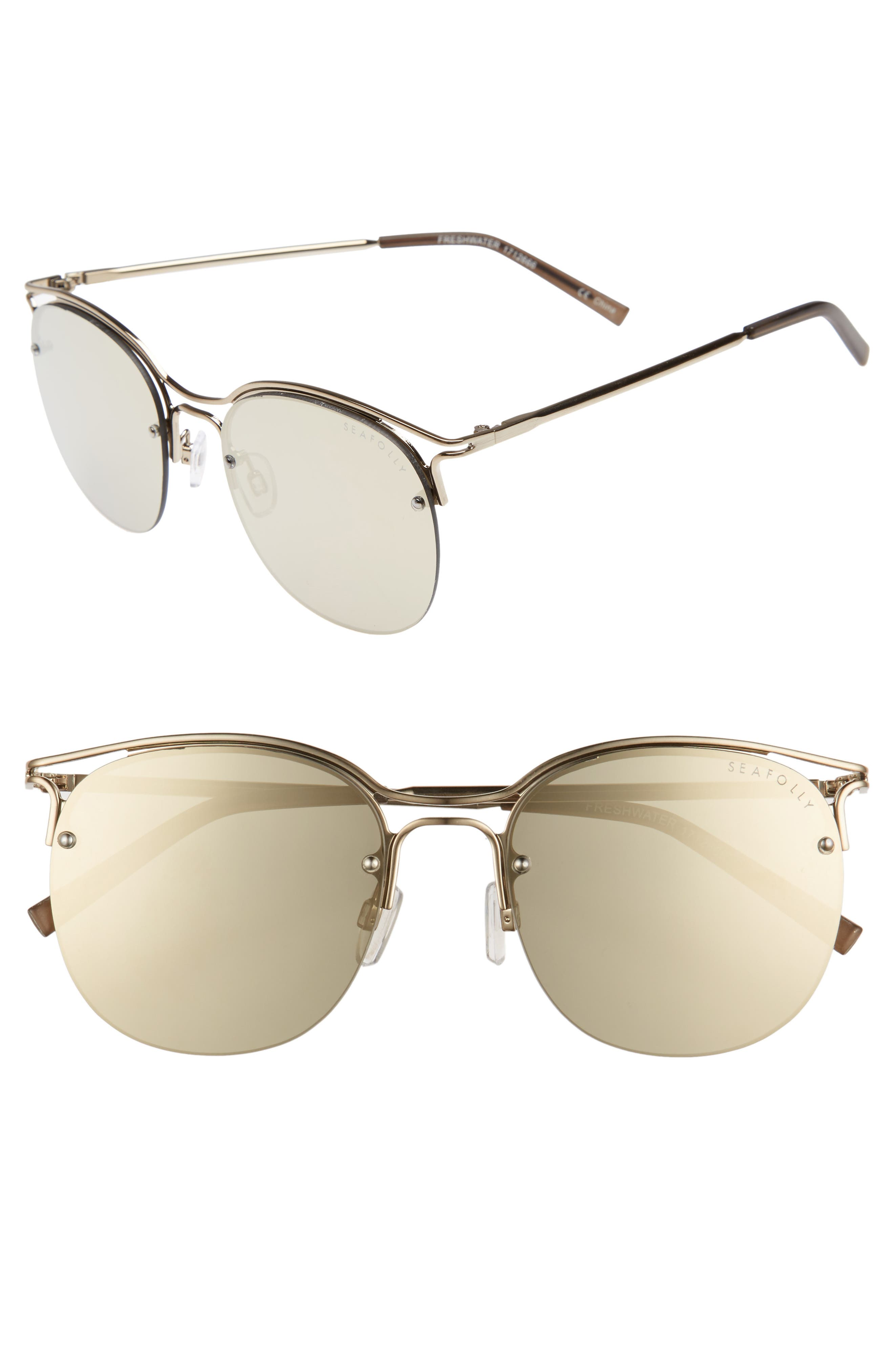 Freshwater 55m Metal Sunglasses,                             Main thumbnail 1, color,                             Moss