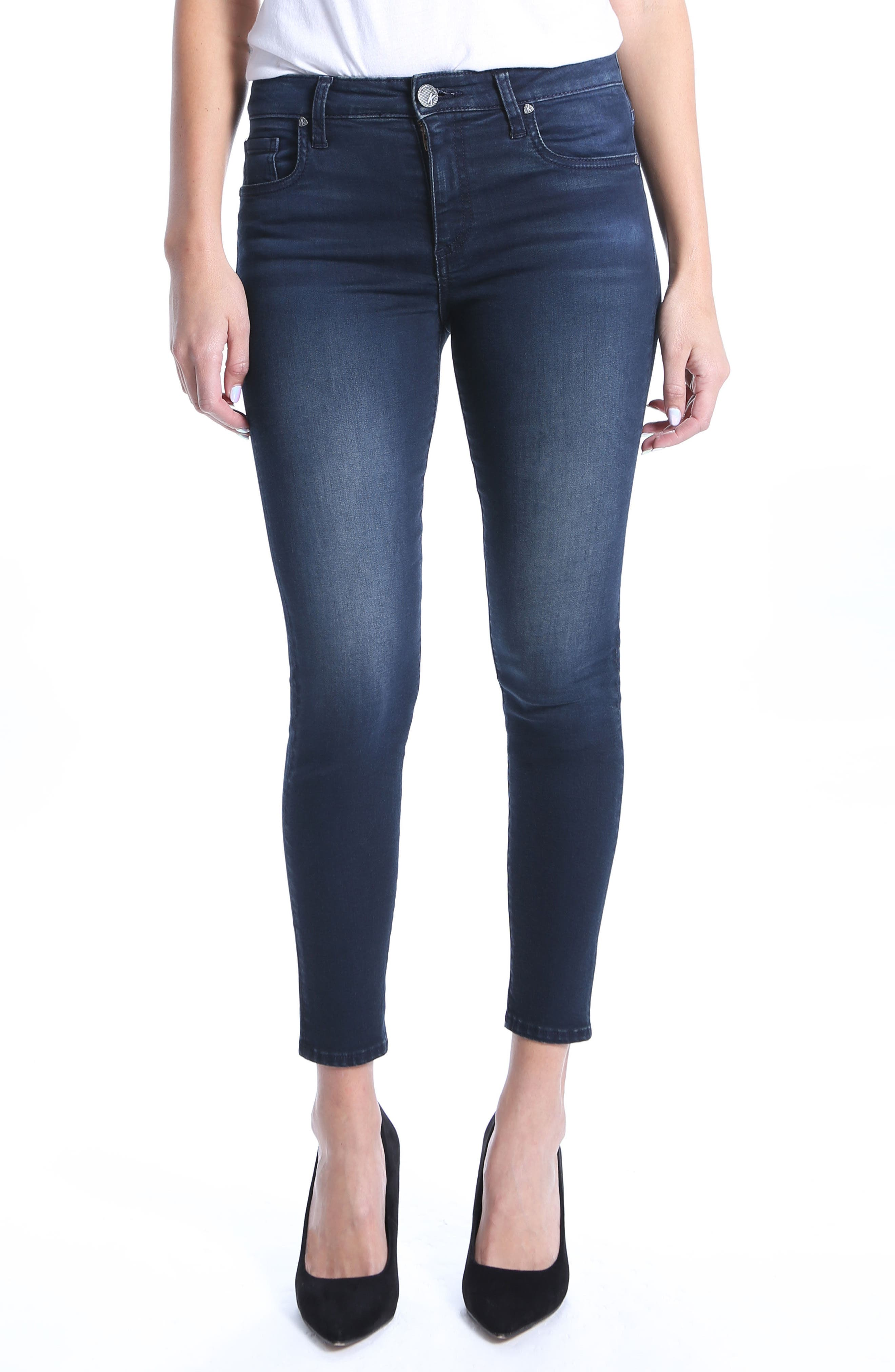 Donna High Rise Ankle Skinny Jeans,                             Main thumbnail 1, color,                             Recognizable
