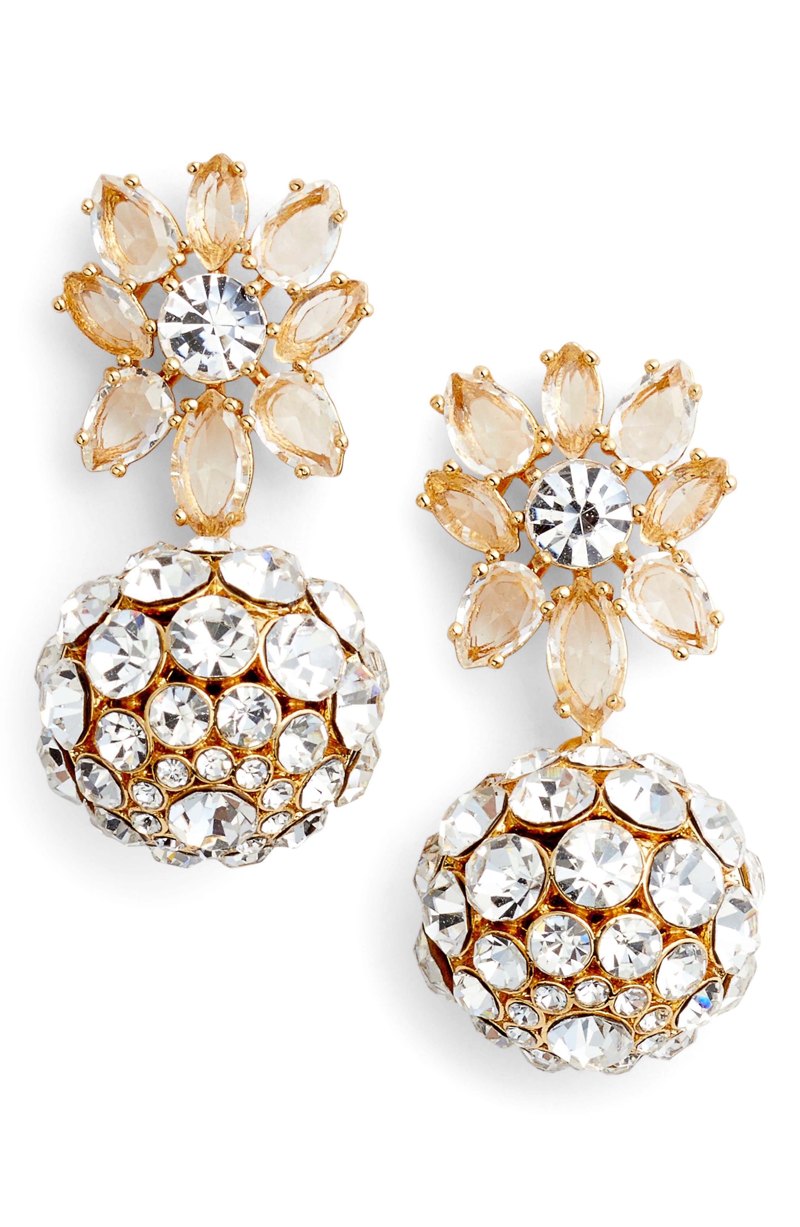kate spade new york light up the room crystal drop earrings