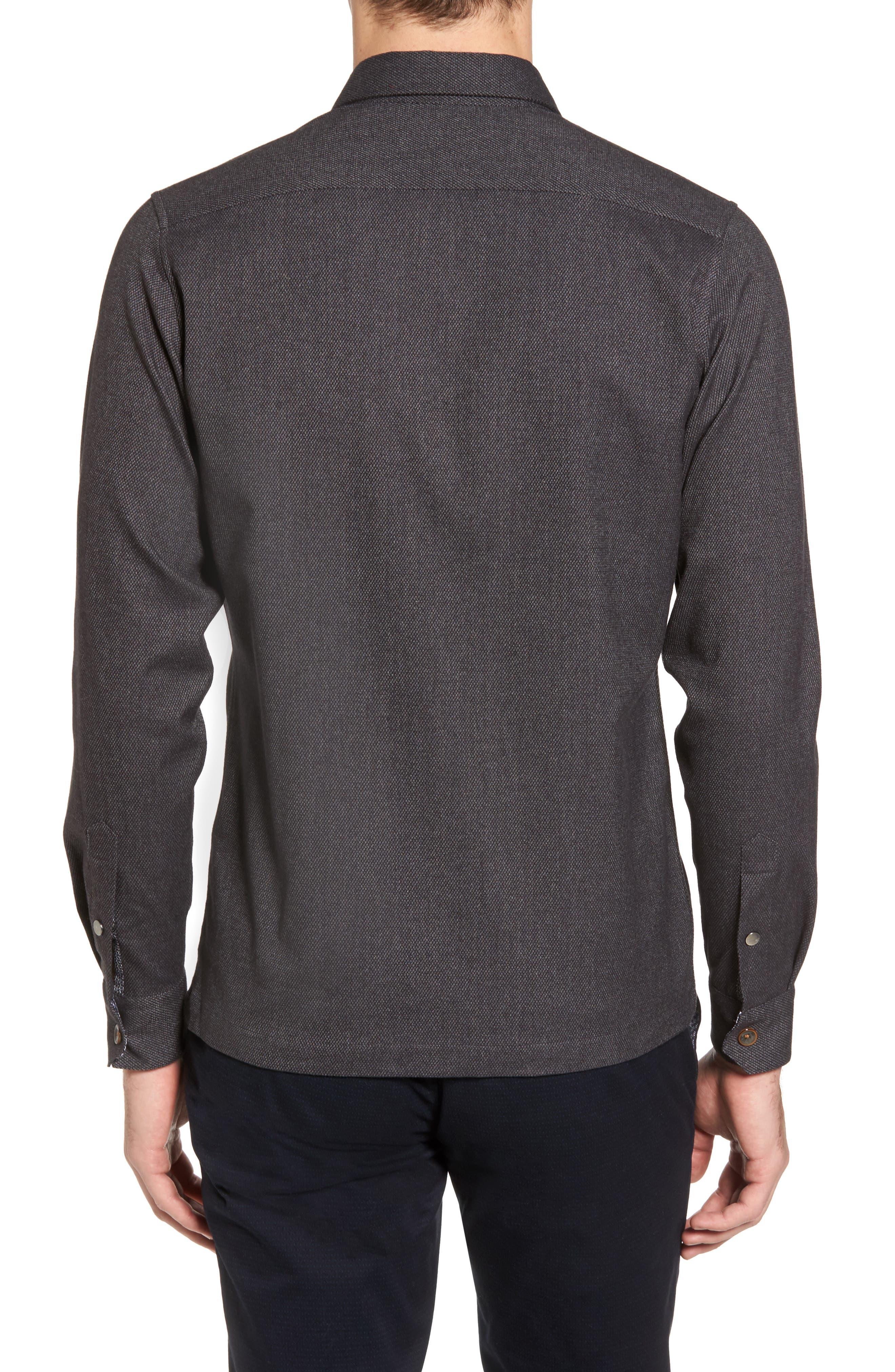 Digon Dobby Shirt,                             Alternate thumbnail 2, color,                             Grey