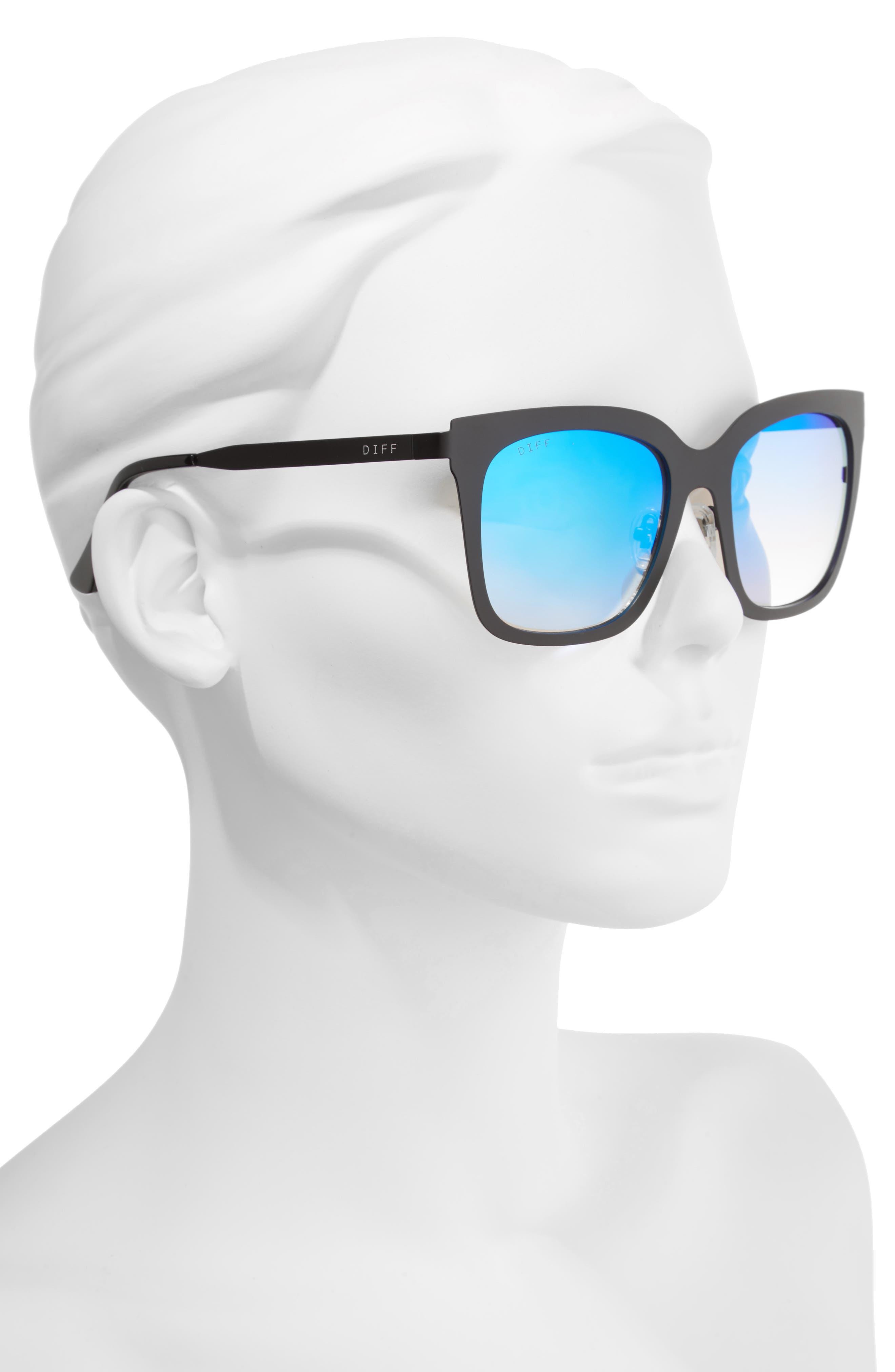 Alternate Image 3  - DIFF x Lauren Akins Ella 53mm Cat Eye Sunglasses