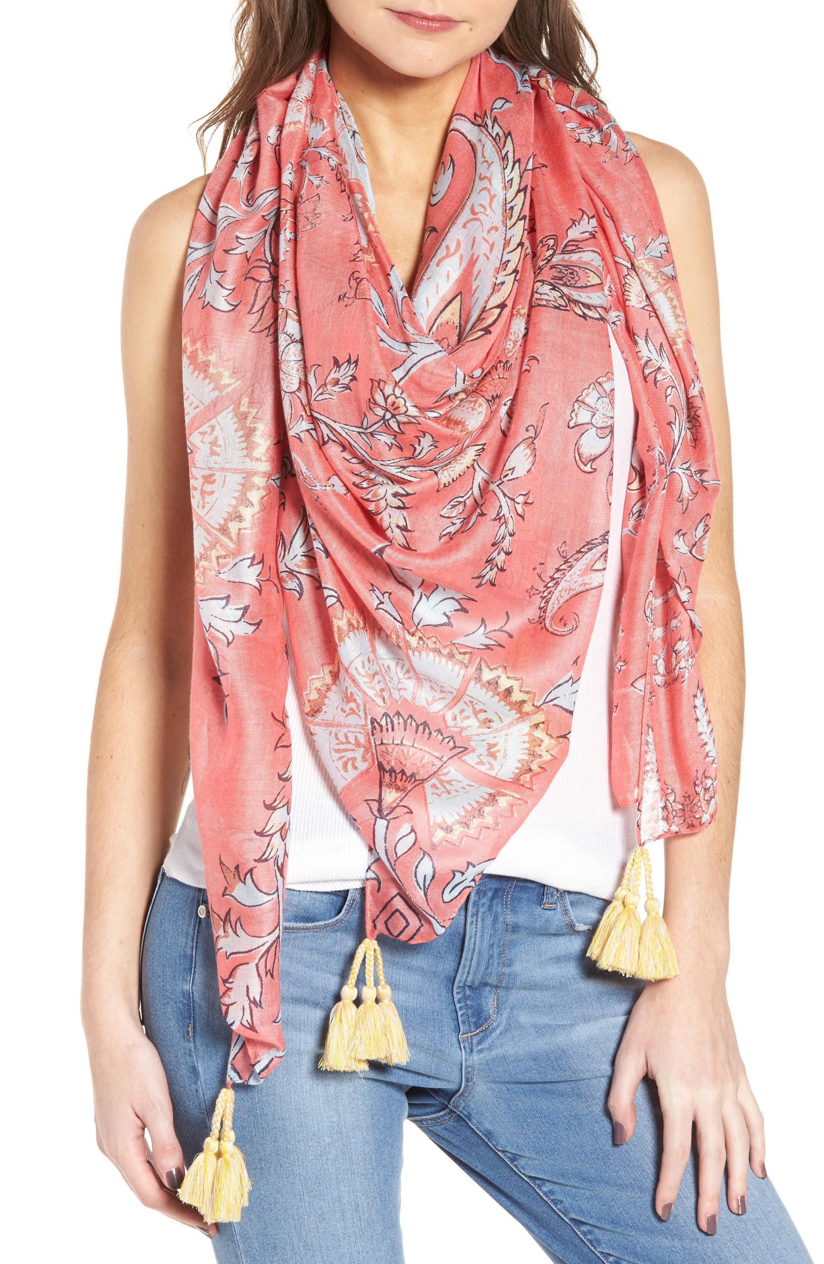 Print Pareo,                         Main,                         color, Coral Tapestry Cove