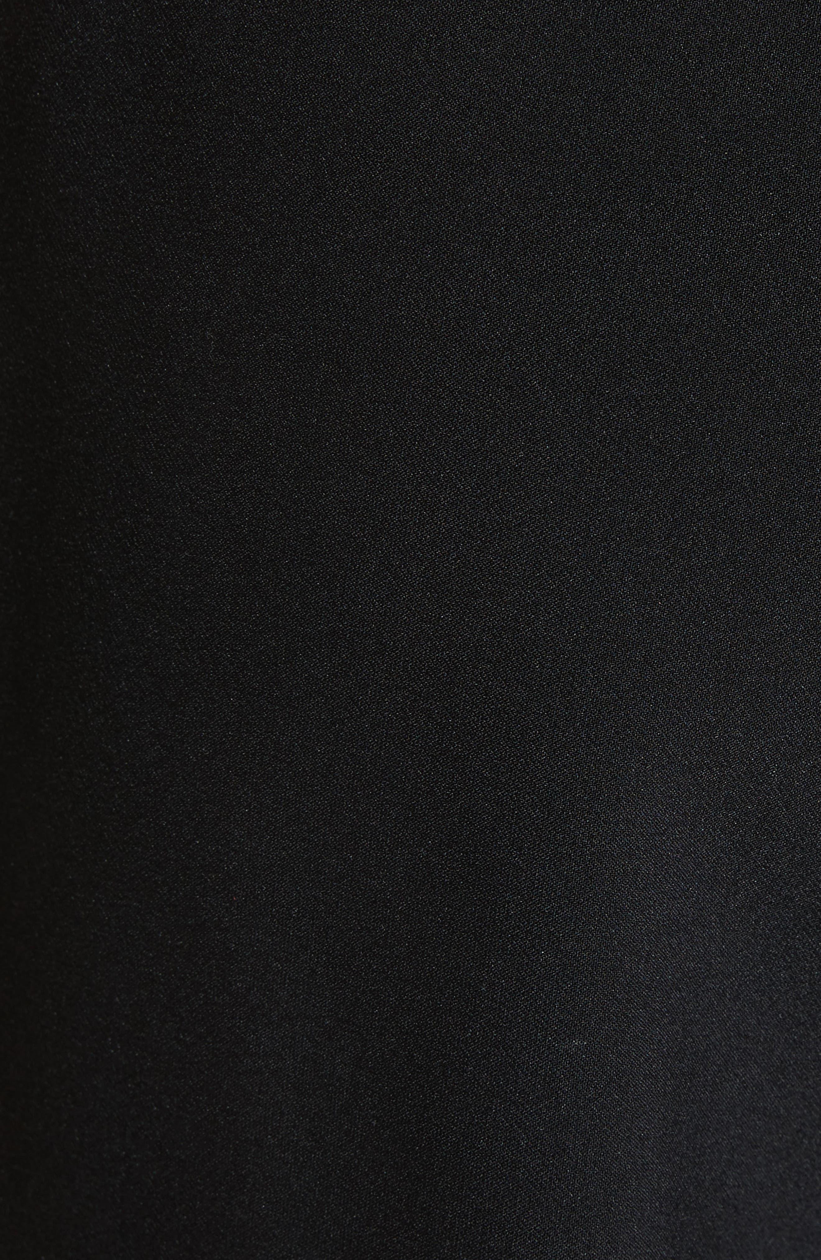 lace trim crop cigarette pants,                             Alternate thumbnail 5, color,                             Black