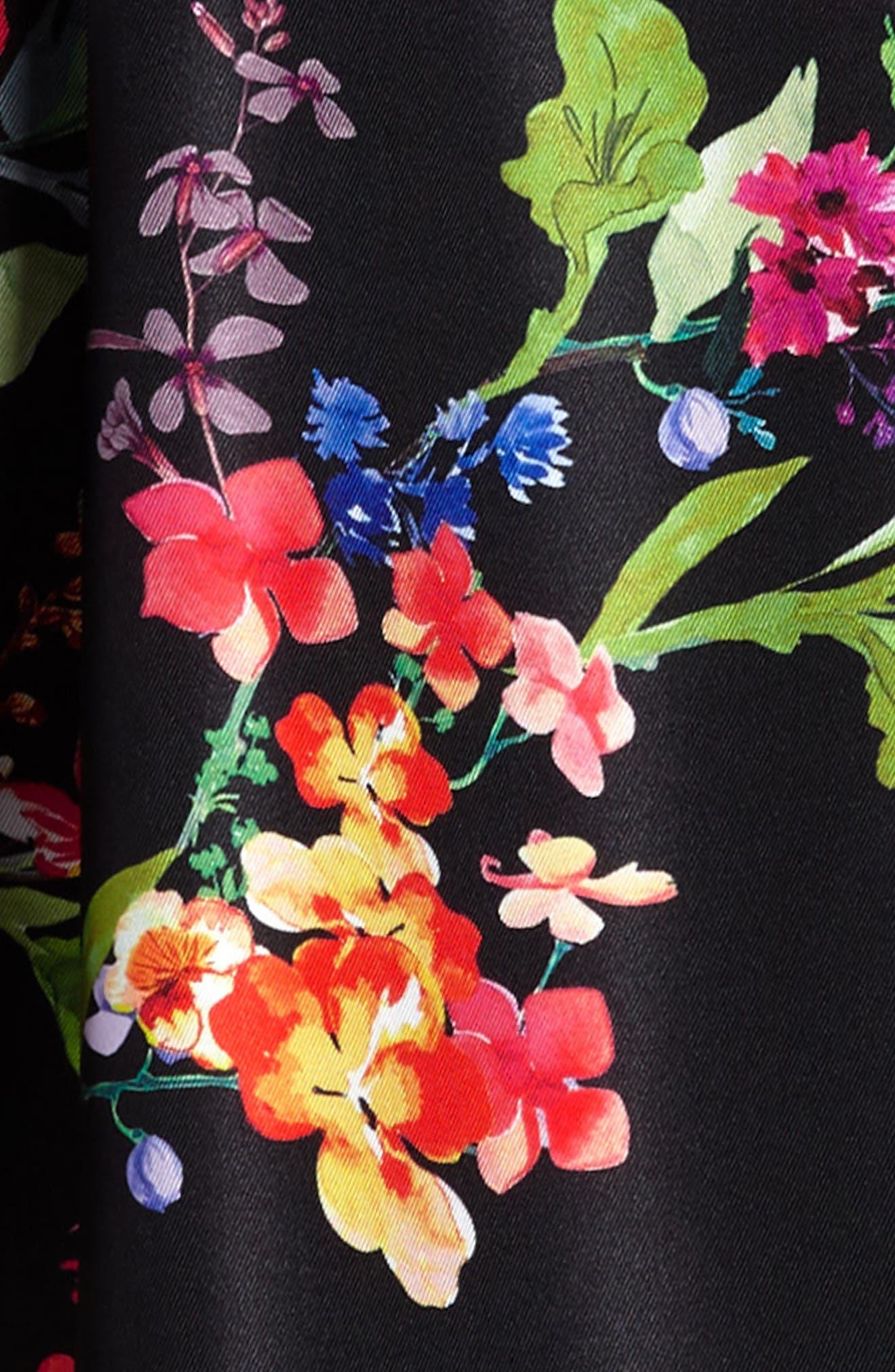 Alternate Image 3  - Love, Nickie Lew Floral Print Halter Dress (Big Girls)