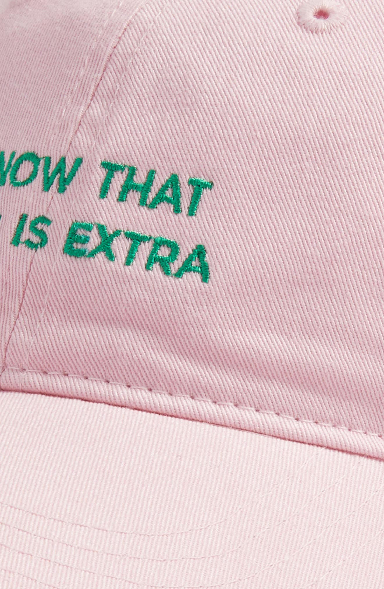 'I Know That Guac Is Extra' Cap,                             Alternate thumbnail 3, color,                             Pink