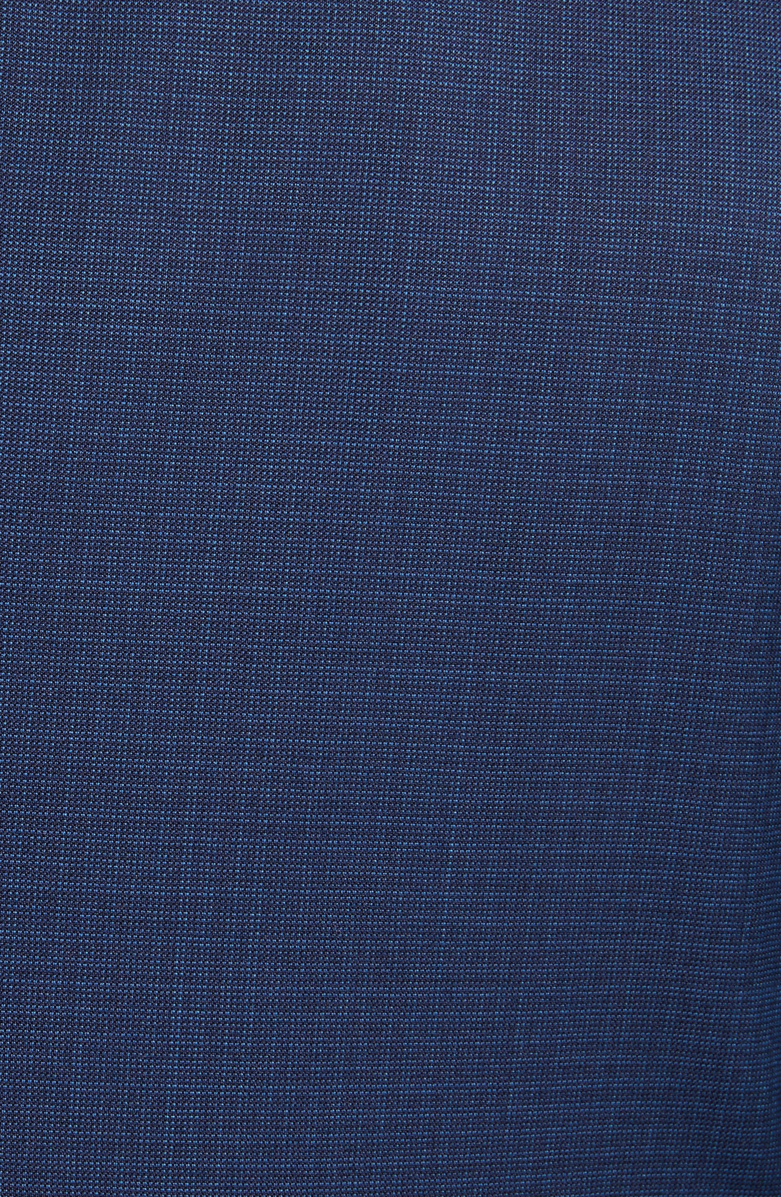 G Line Trim Fit Check Wool Suit,                             Alternate thumbnail 6, color,                             Navy