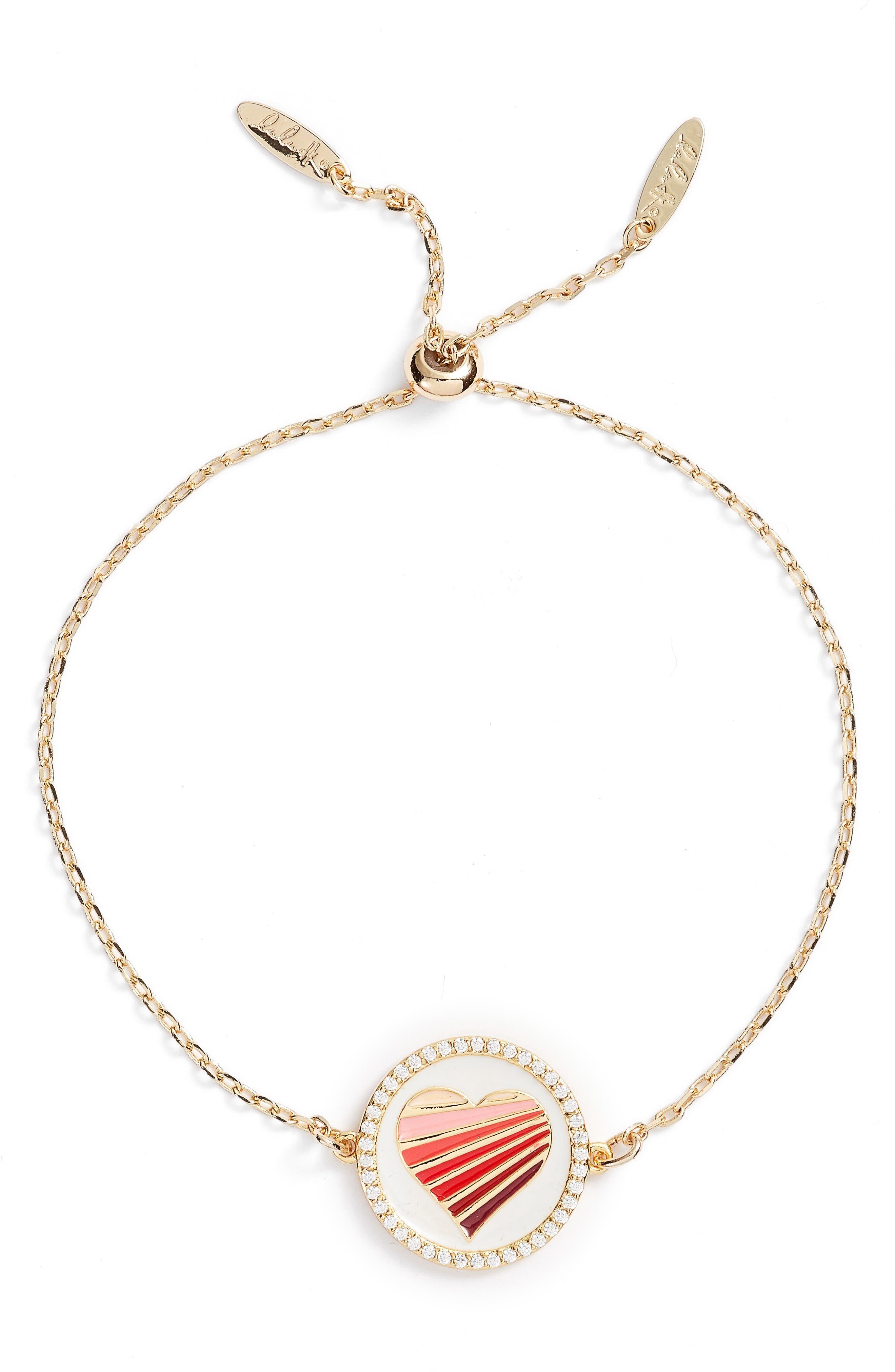 Love Pendant Bracelet,                         Main,                         color, Gold
