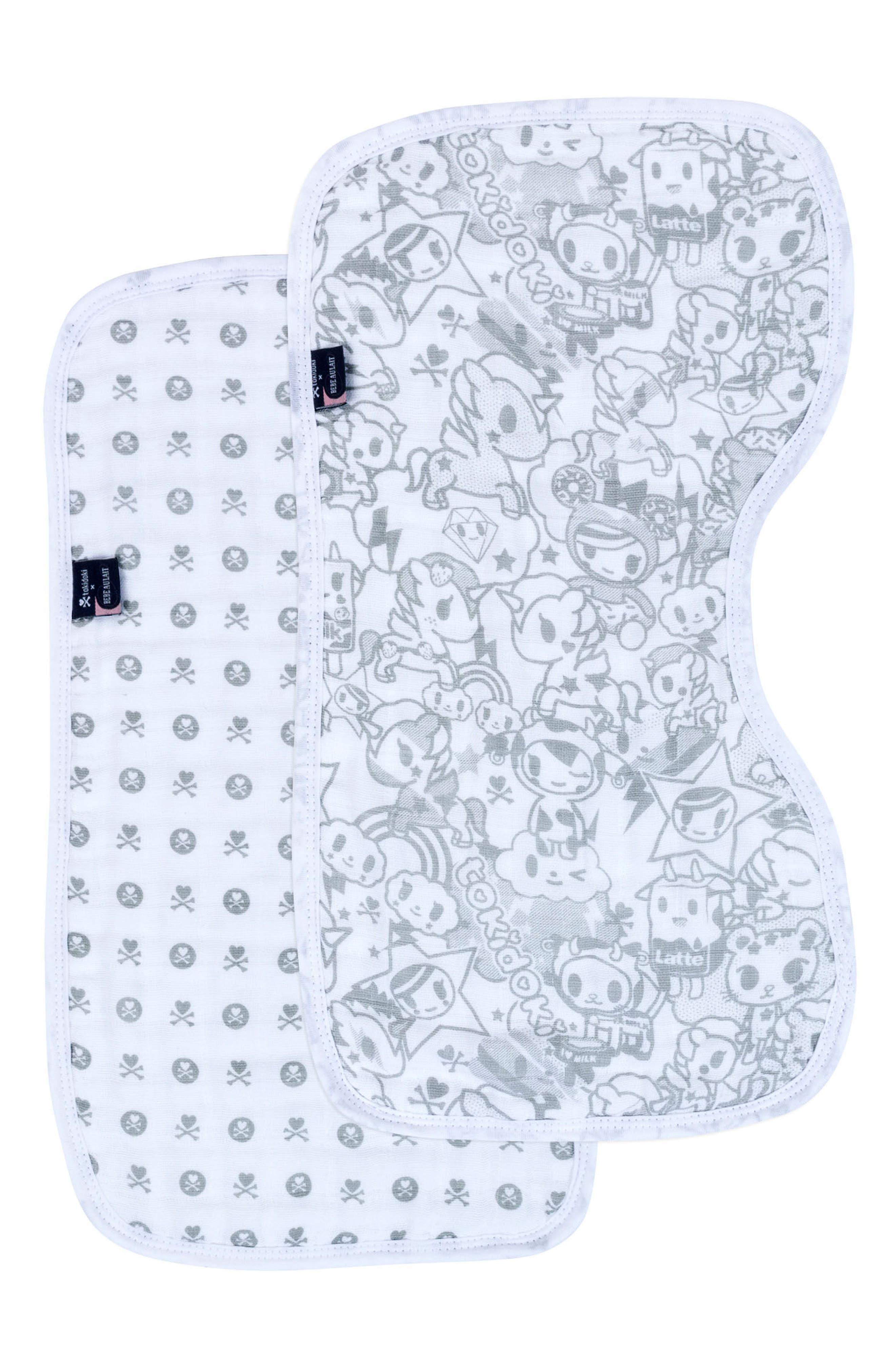 Bébé au Lait Print 2-Pack Muslin Burp Cloth Set