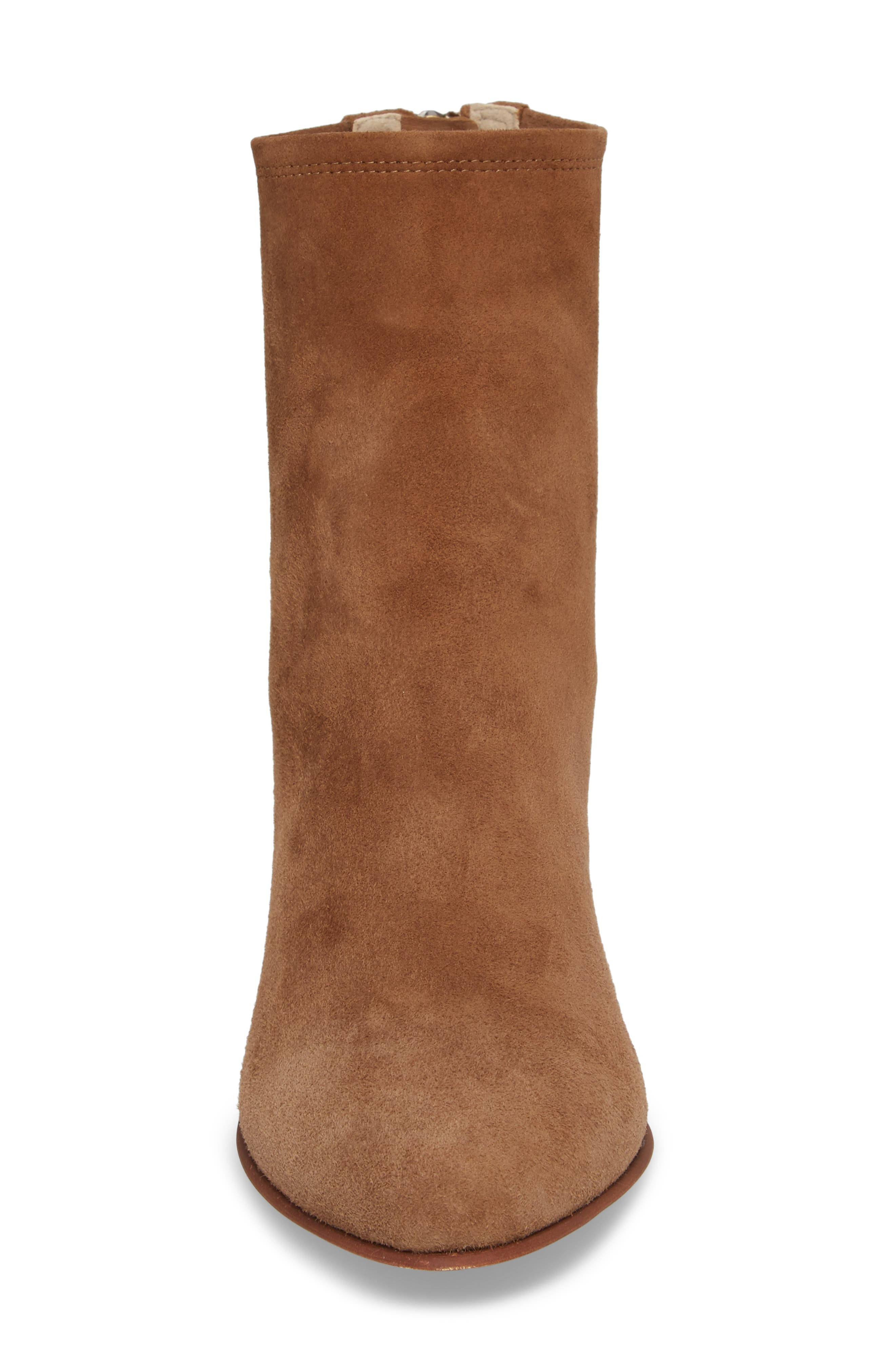 Tawny Bootie,                             Alternate thumbnail 4, color,                             Khaki Suede