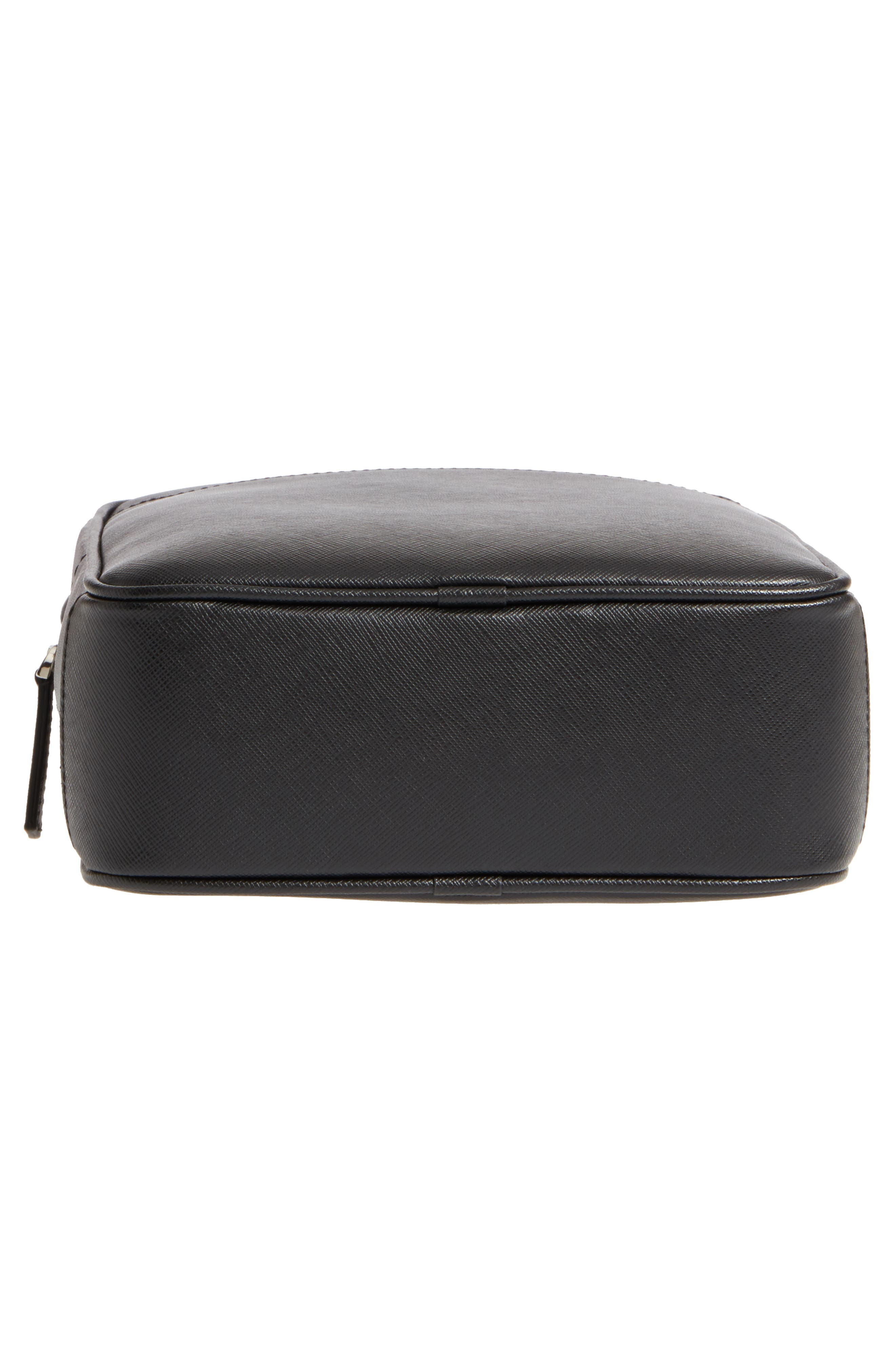 Sartorial North South Leather Bag,                             Alternate thumbnail 6, color,                             Black