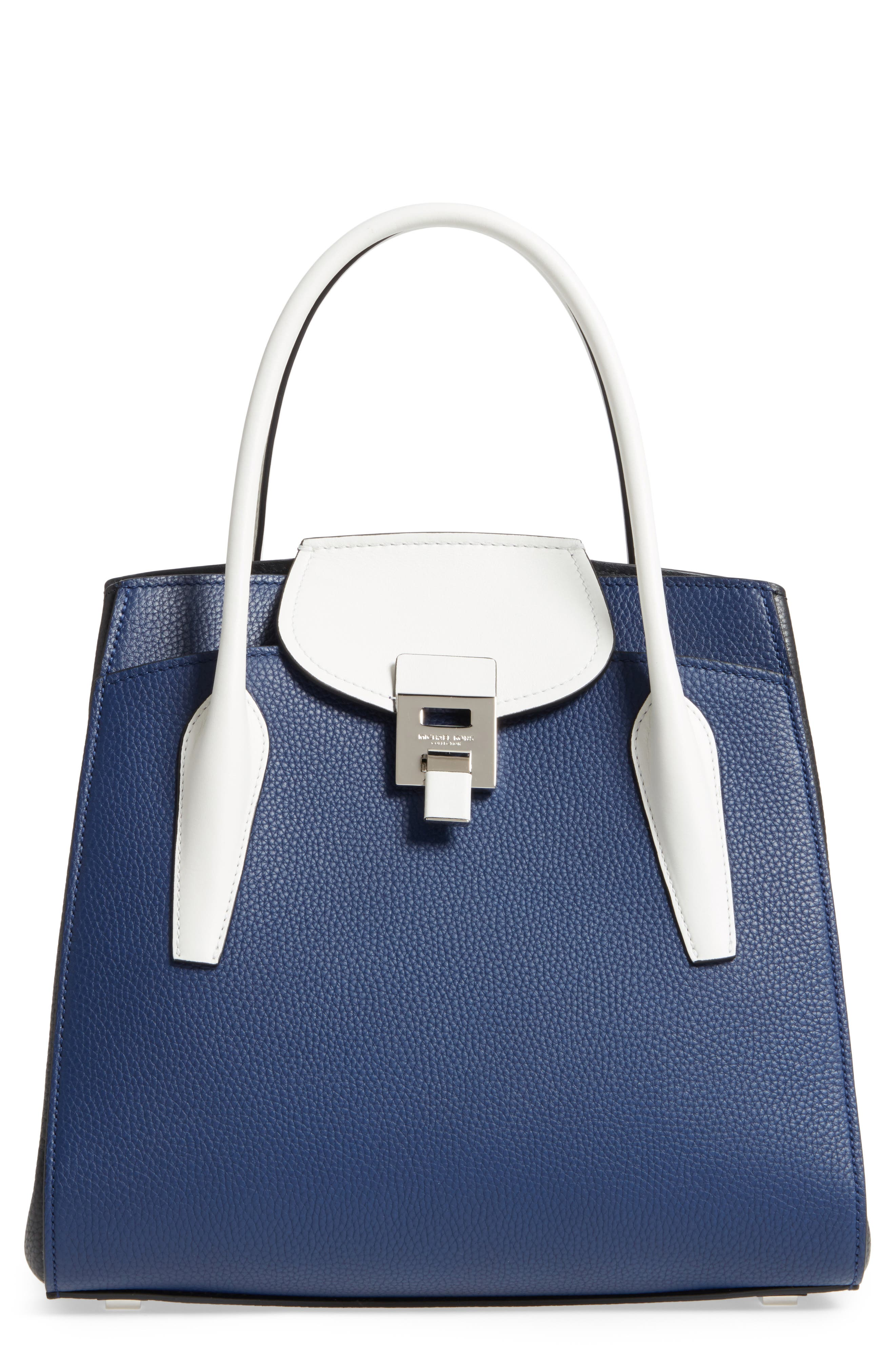Main Image - Michael Kors Large Bancroft Leather Satchel