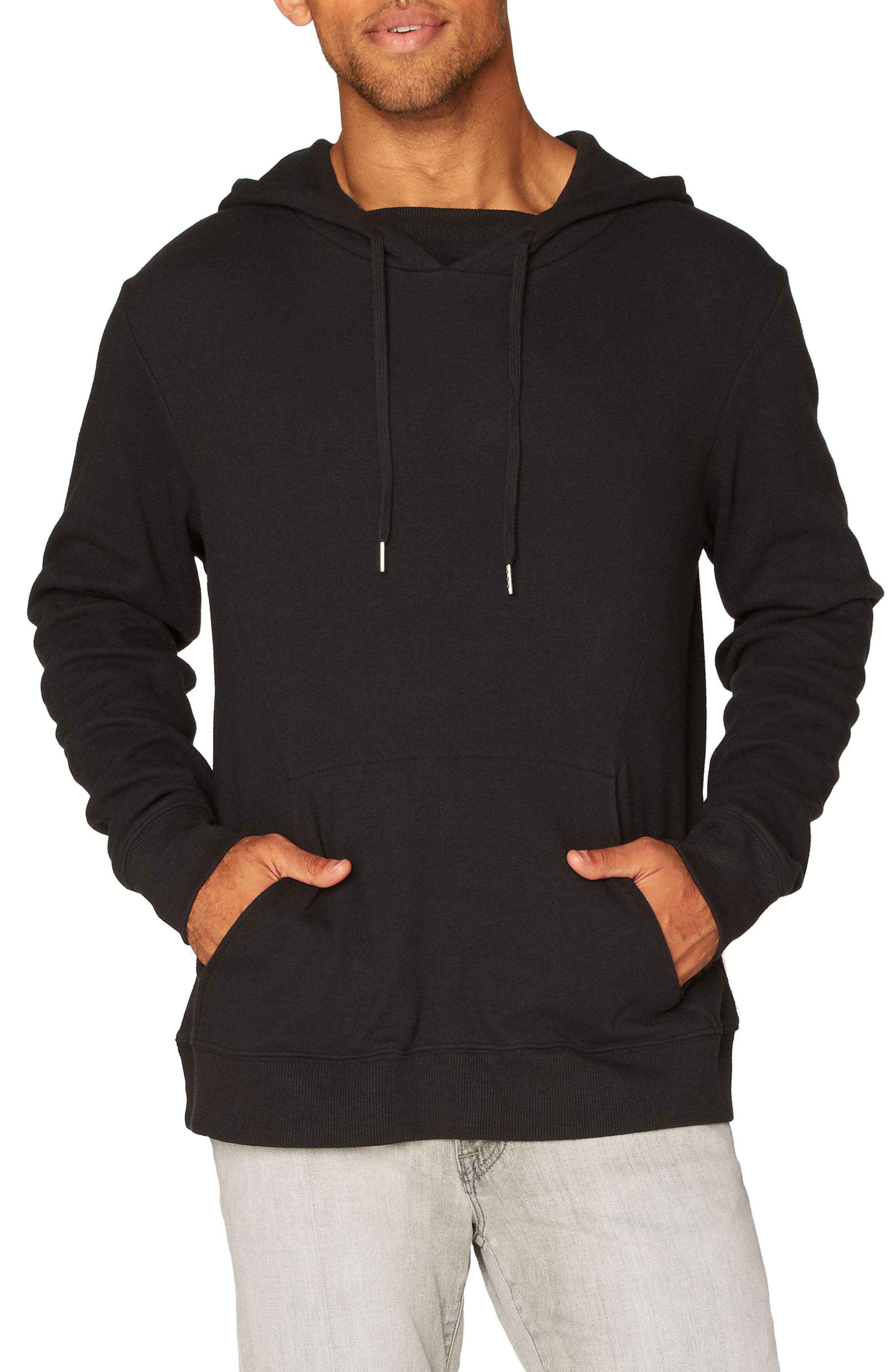 Vance Fleece Hoodie,                         Main,                         color, Black