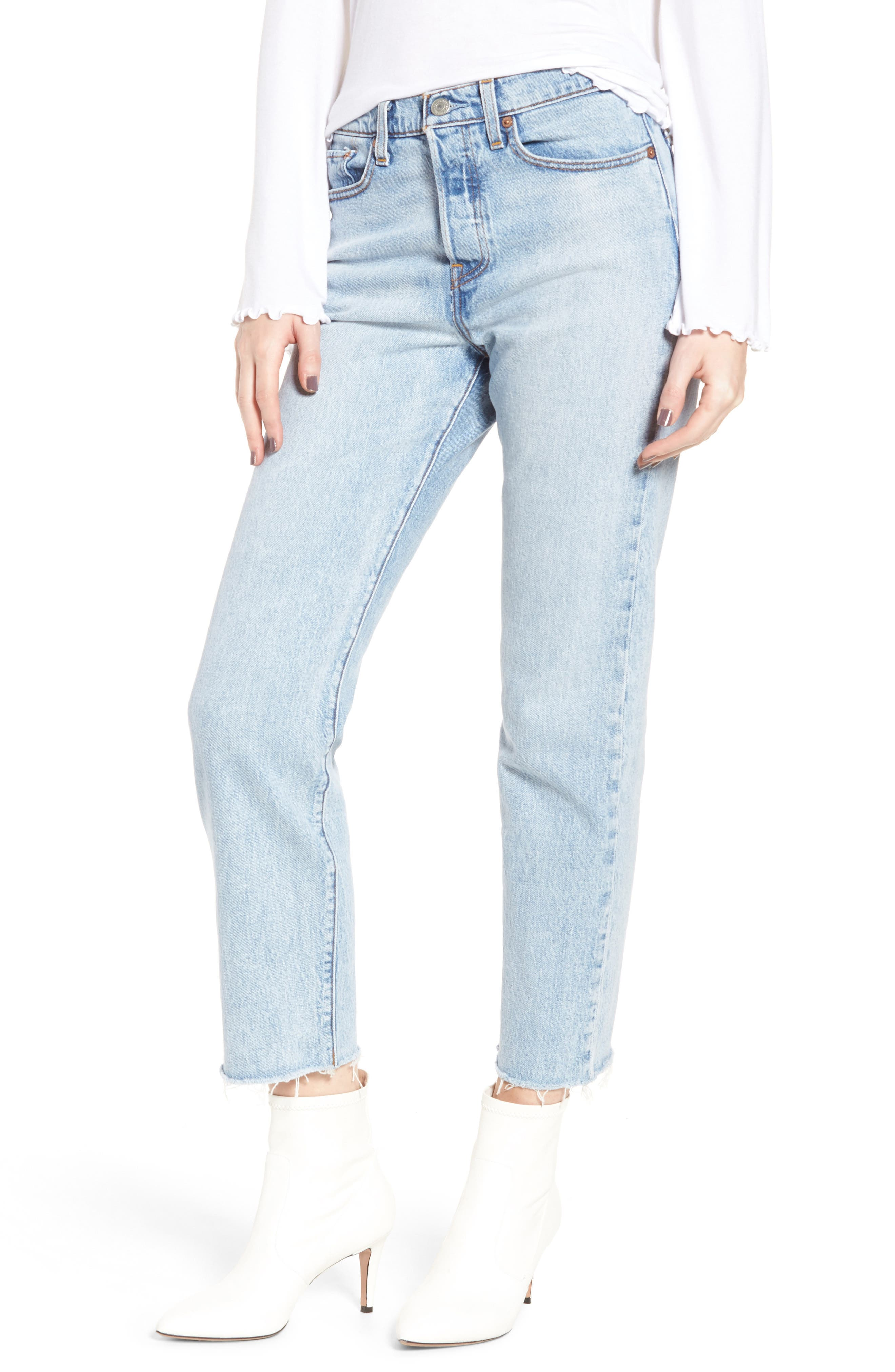 Levi's® Wedgie Straight Leg Jeans (Clouded Consciousness)
