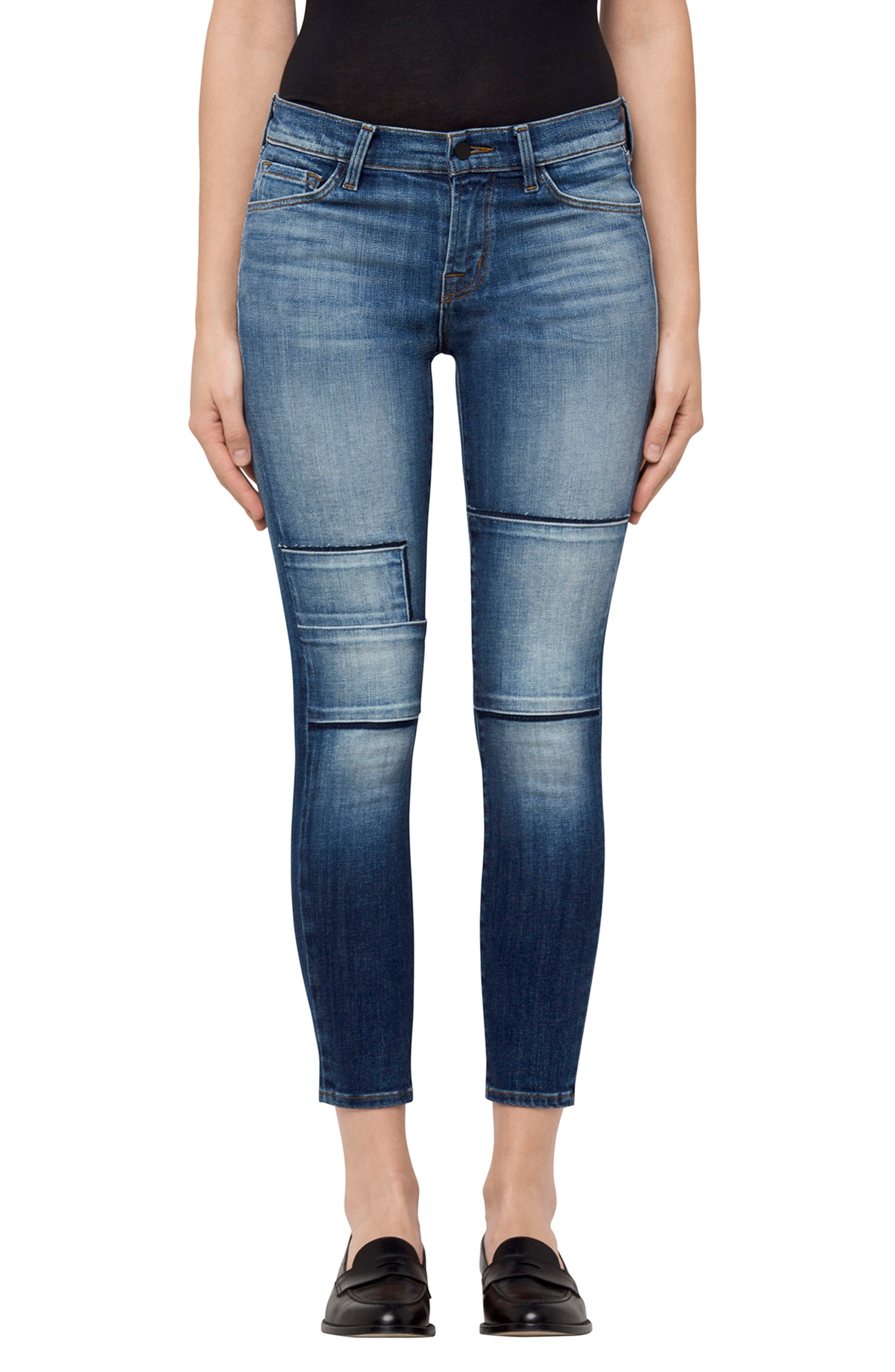 835 Crop Skinny Jeans,                             Main thumbnail 1, color,                             Jasper Patched