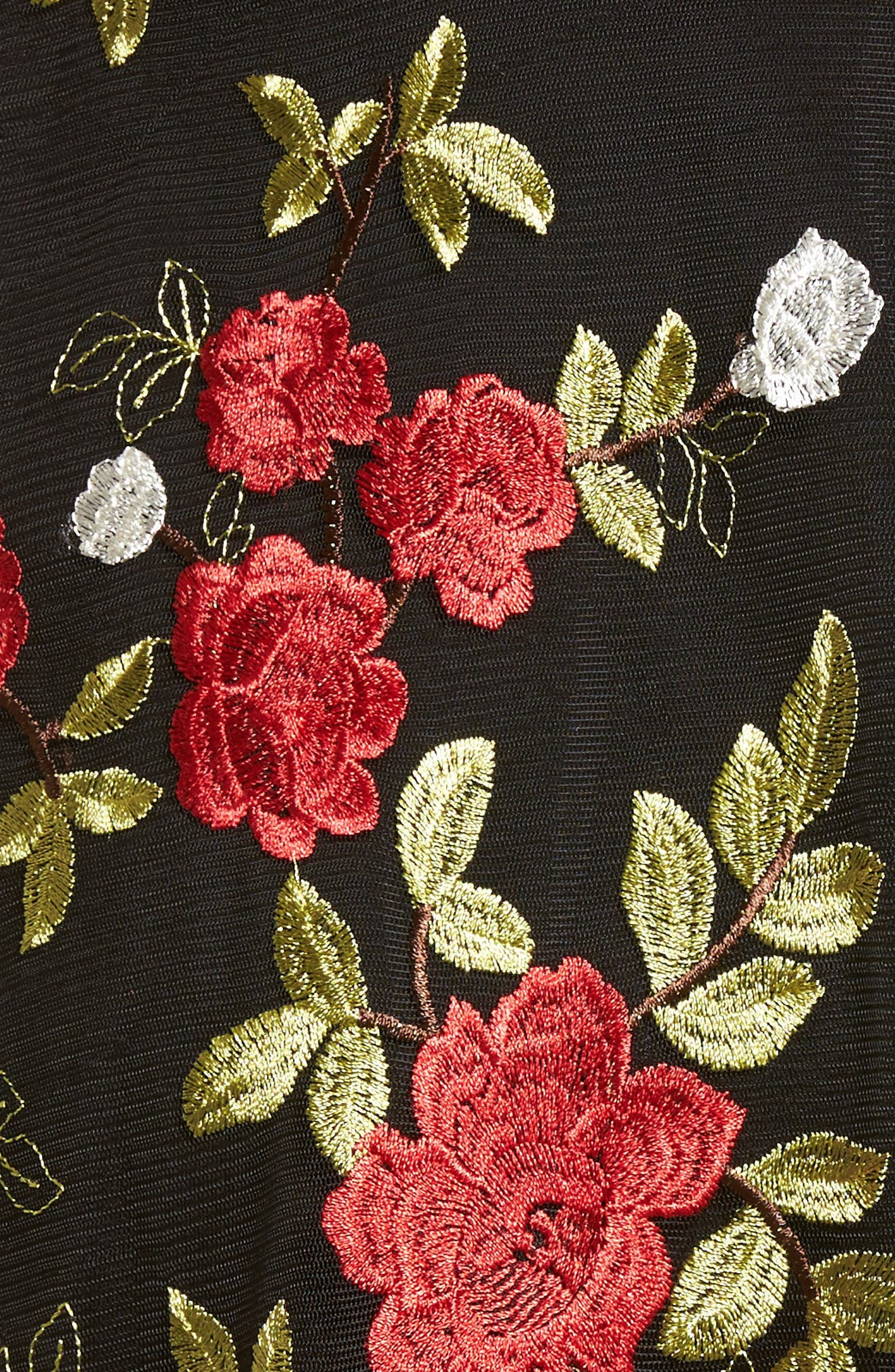 Alternate Image 5  - Lovers + Friends Erica Sheer Embroidered A-Line Dress