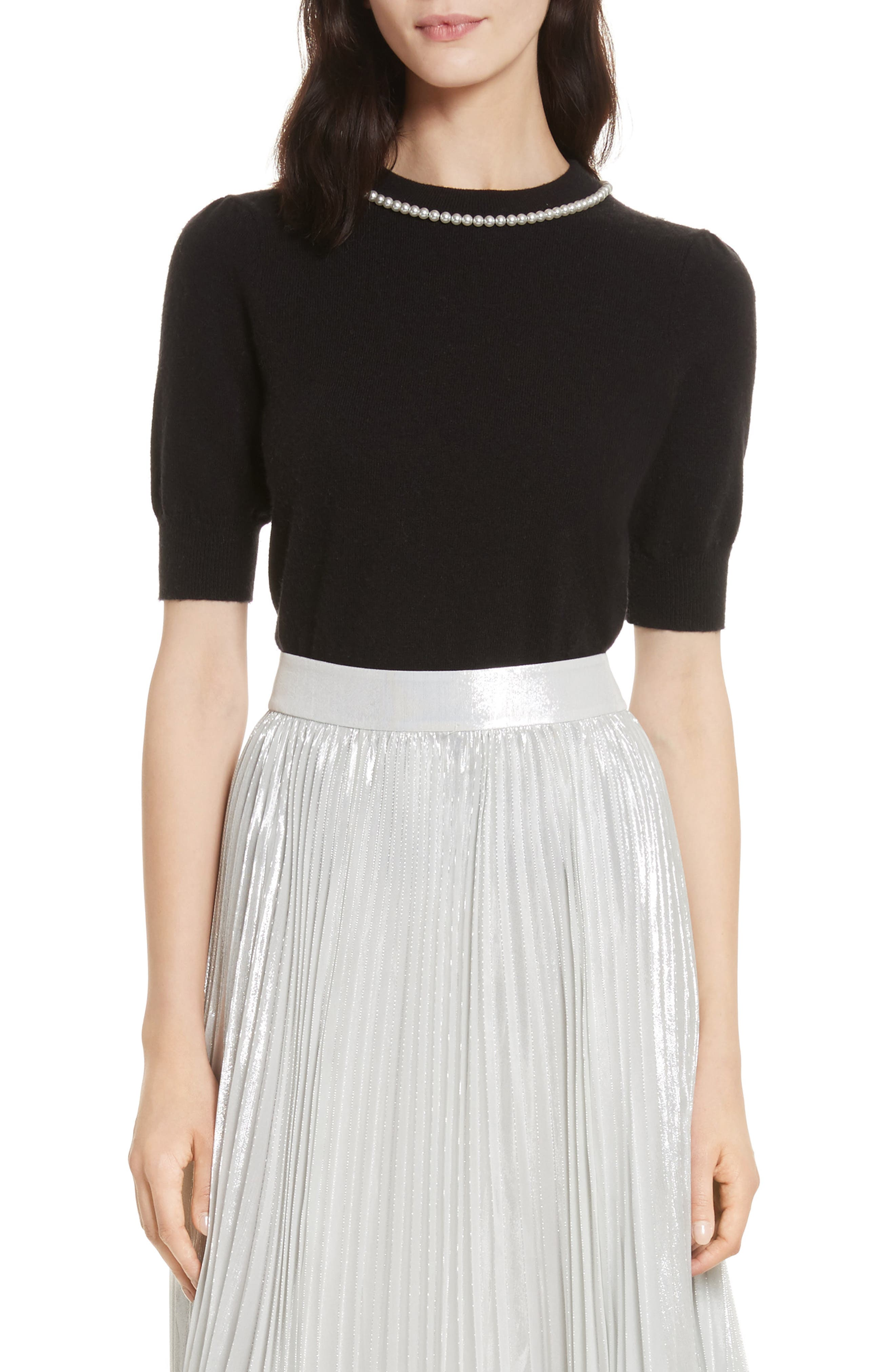 kate spade new york pearly embellished sweater