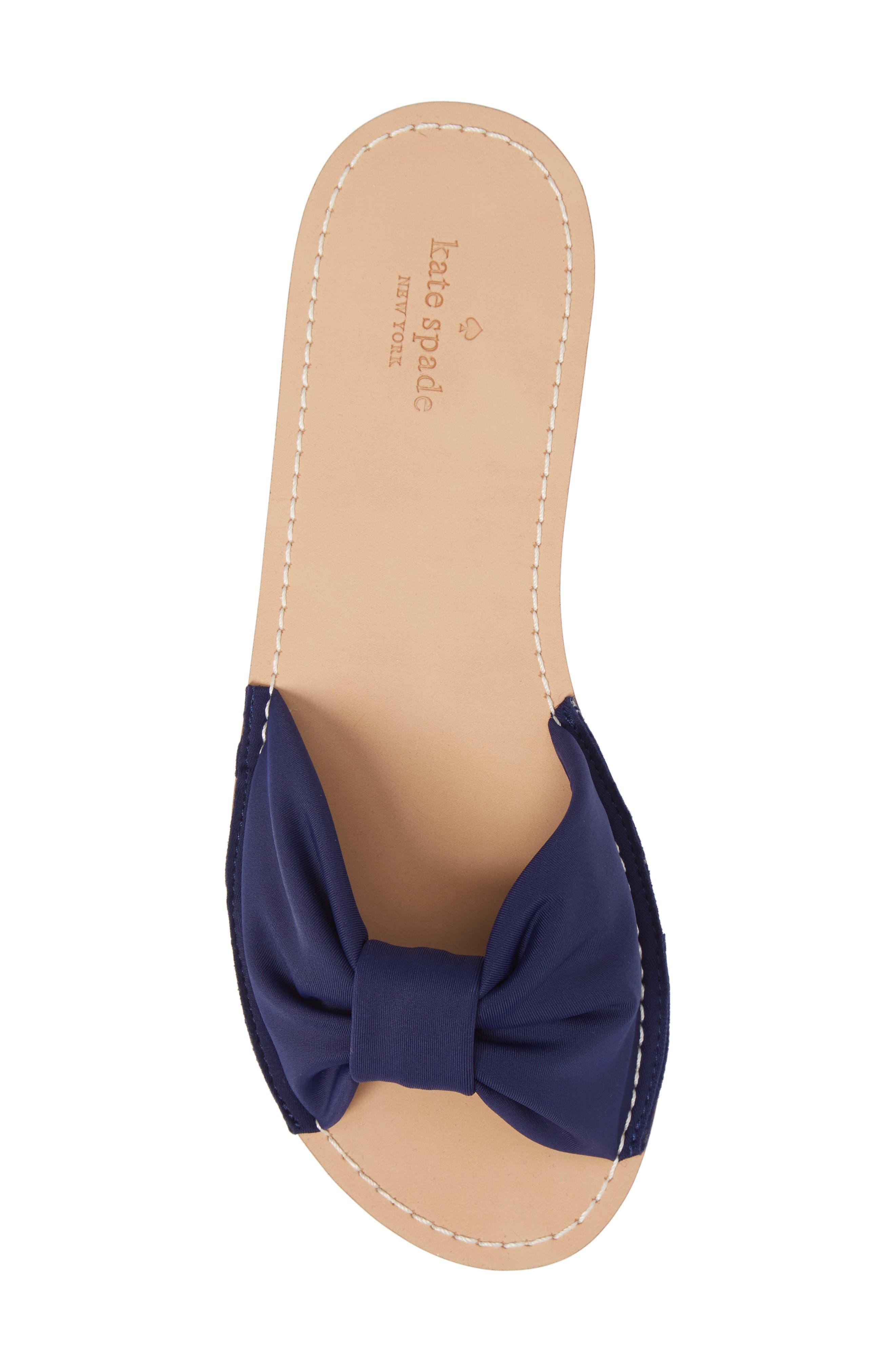 indi slide sandal,                             Alternate thumbnail 5, color,                             Blue