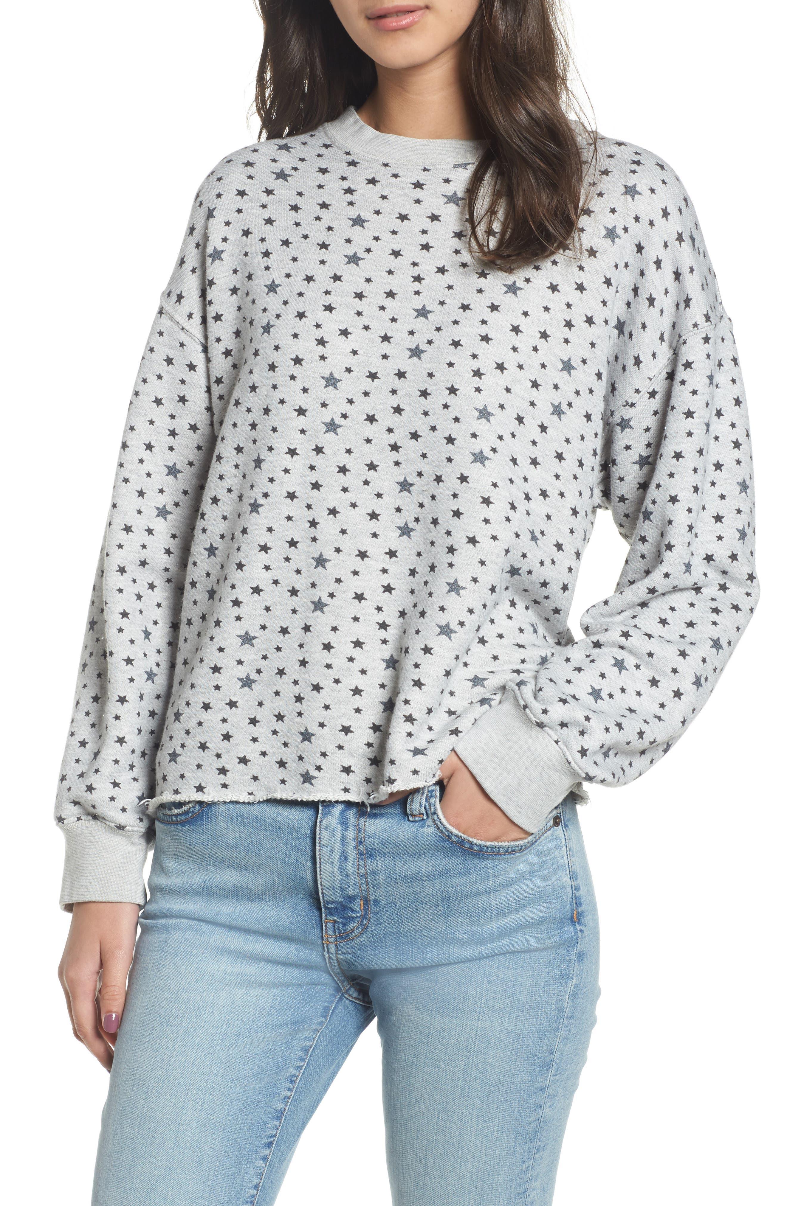 Main Image - Current/Elliott The Slouchy Crop Sweatshirt