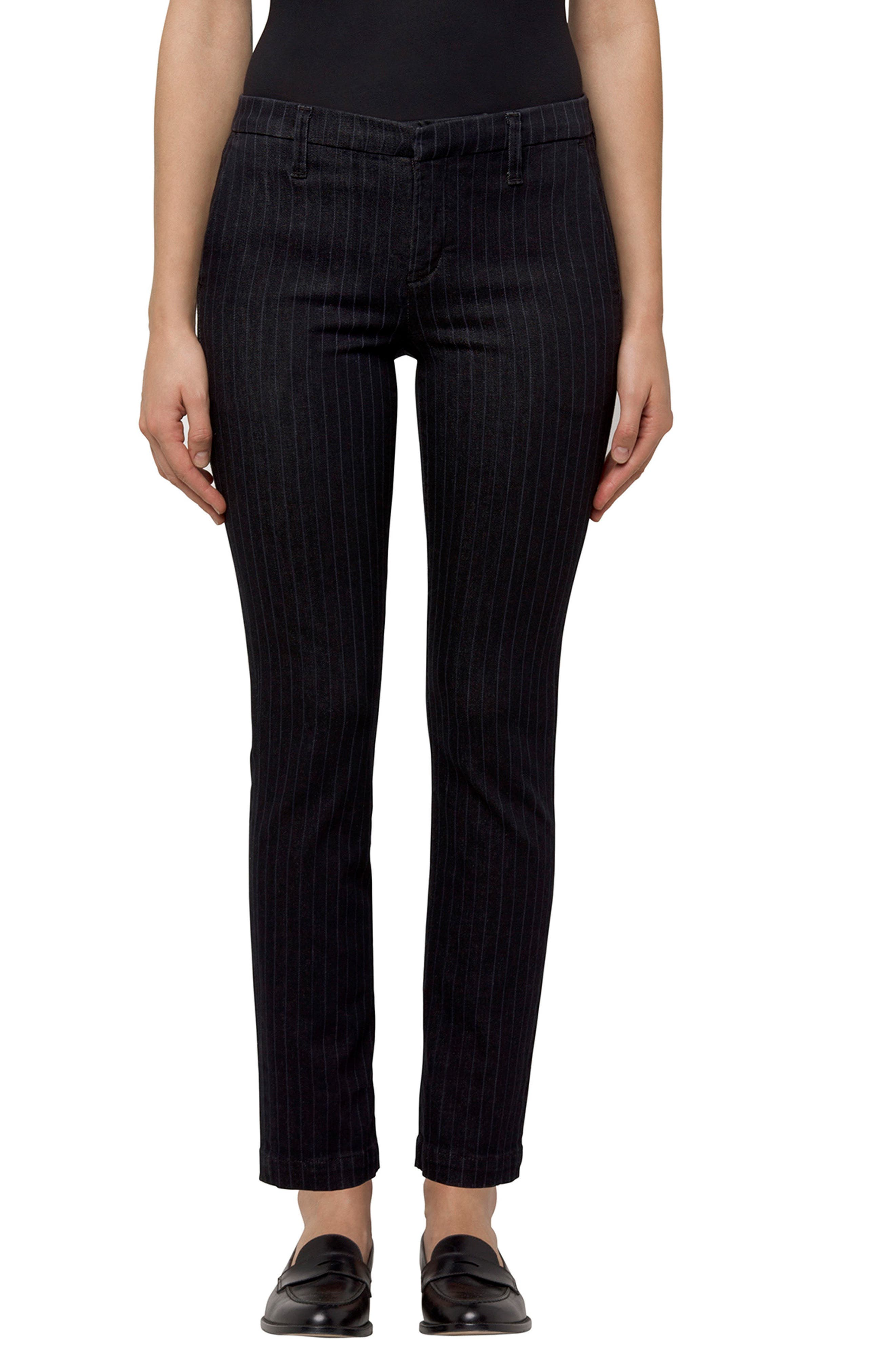 Clara Stripe Ankle Trousers,                         Main,                         color, Pinstripe