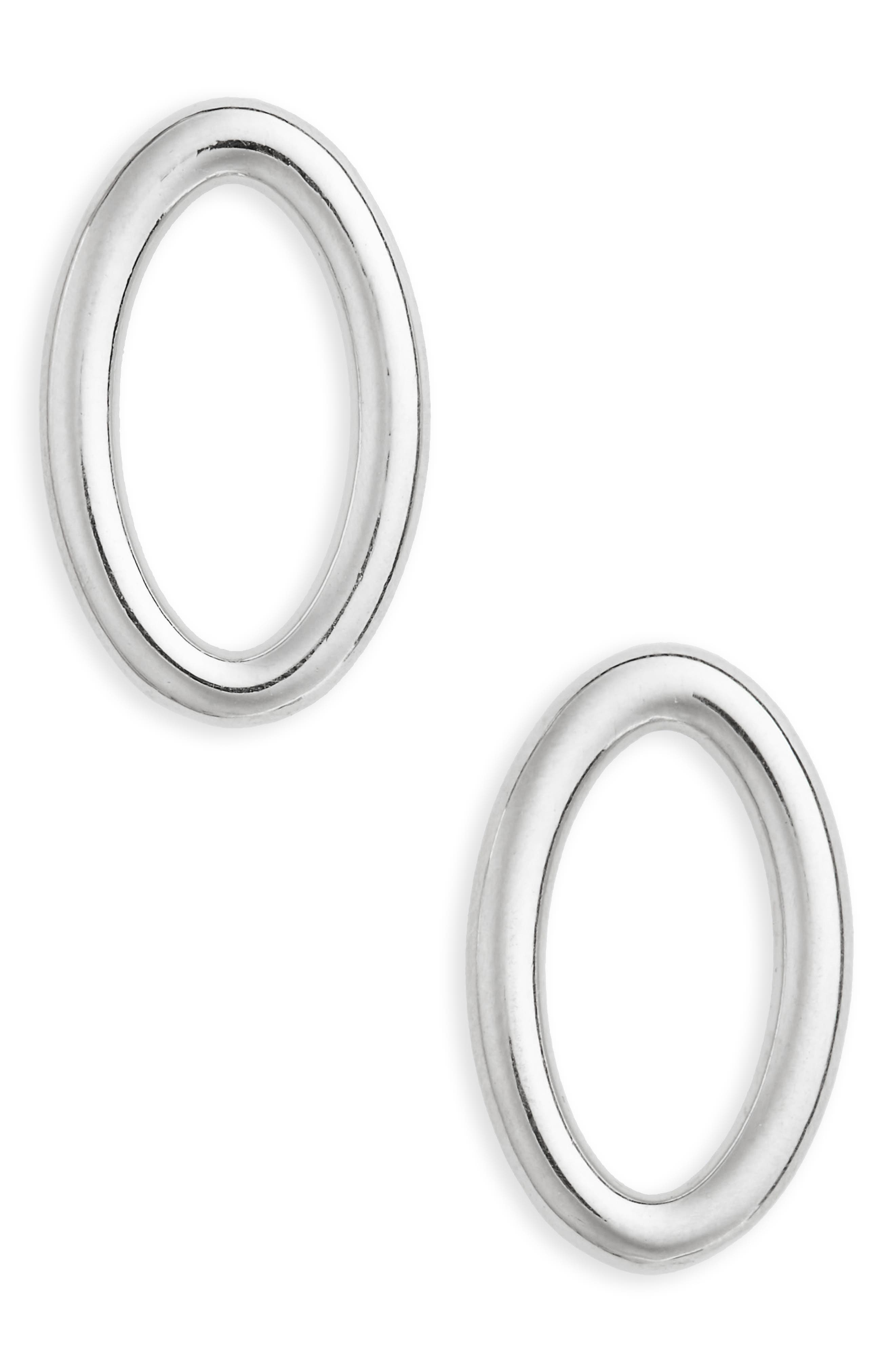 All Blues SMALL ELLIPSE POLISHED EARRINGS