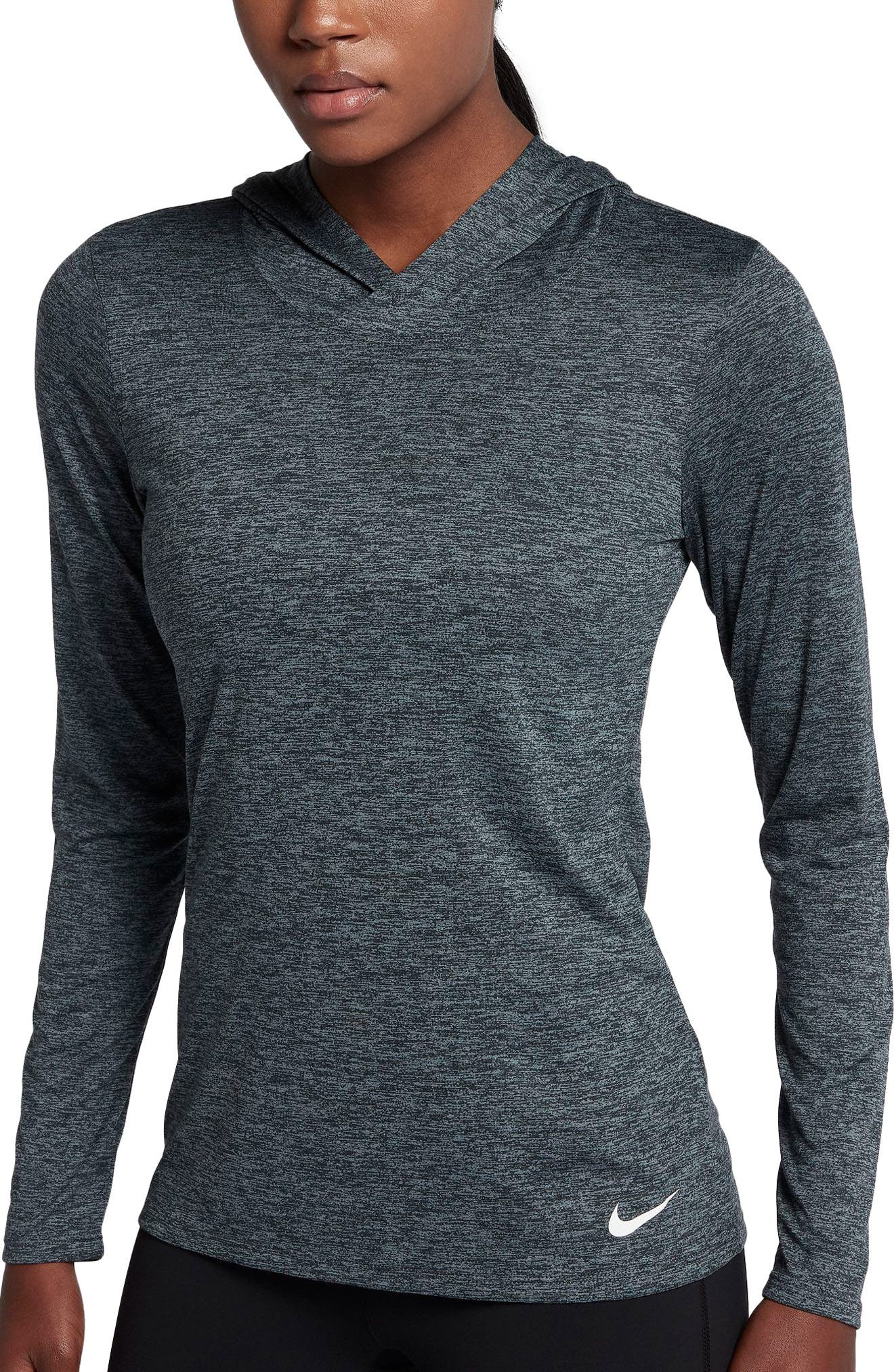 Dry Legend Hooded Training Top,                         Main,                         color, Black/ Cool Grey/ White