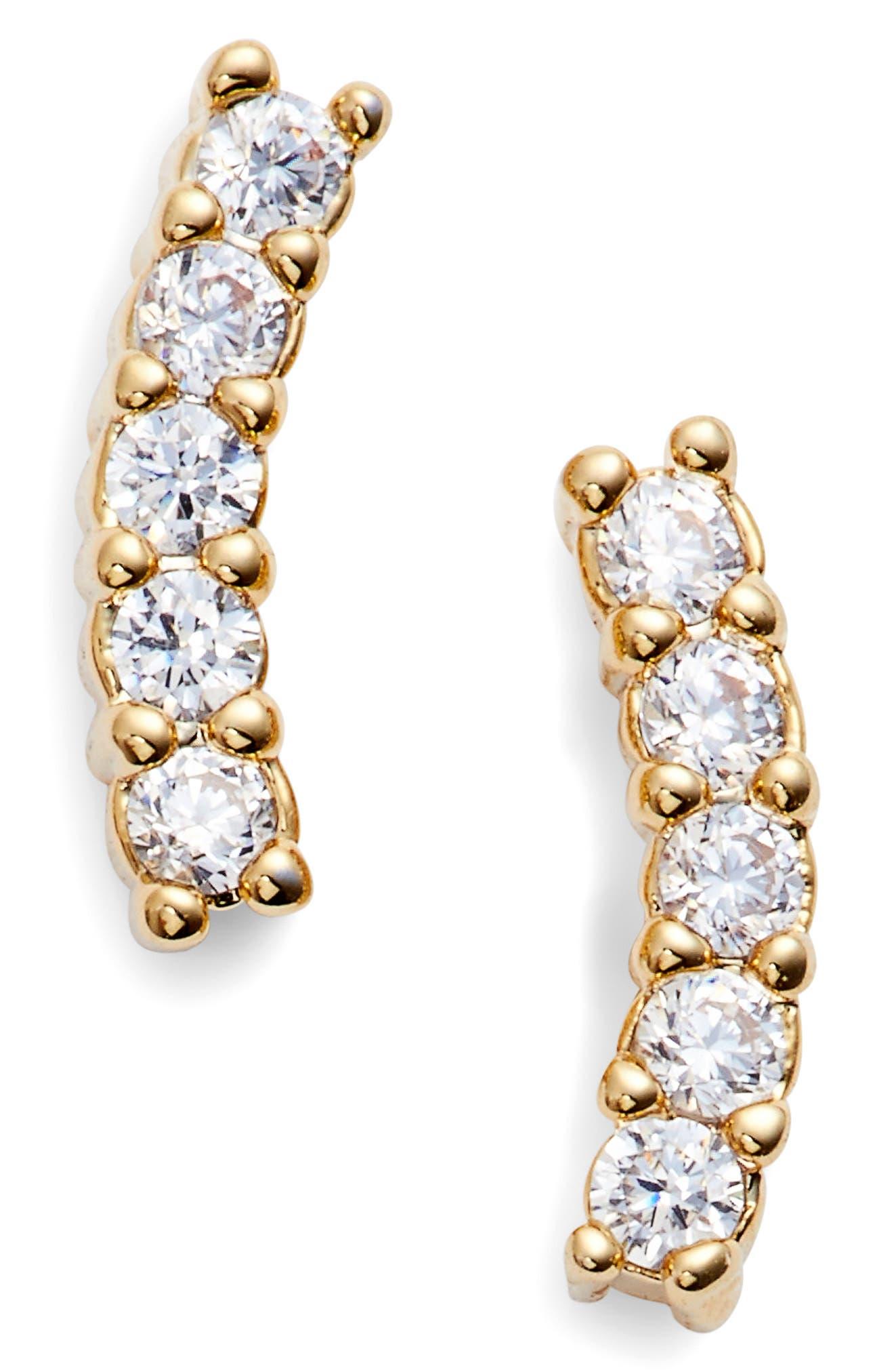 Meg Crystal Ear Crawlers,                         Main,                         color, Gold