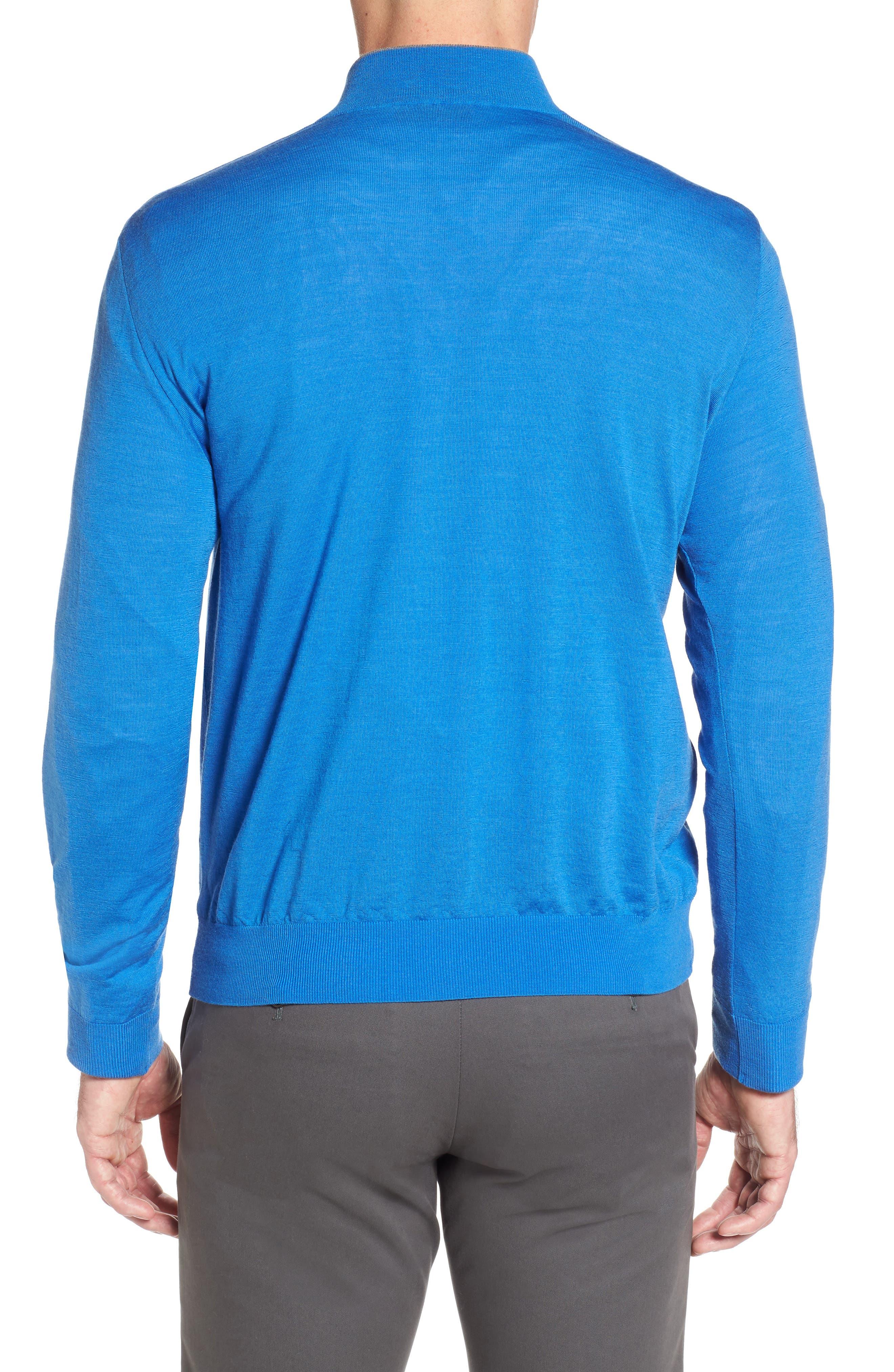 Alternate Image 2  - Paul & Shark Quarter Zip Wool Pullover