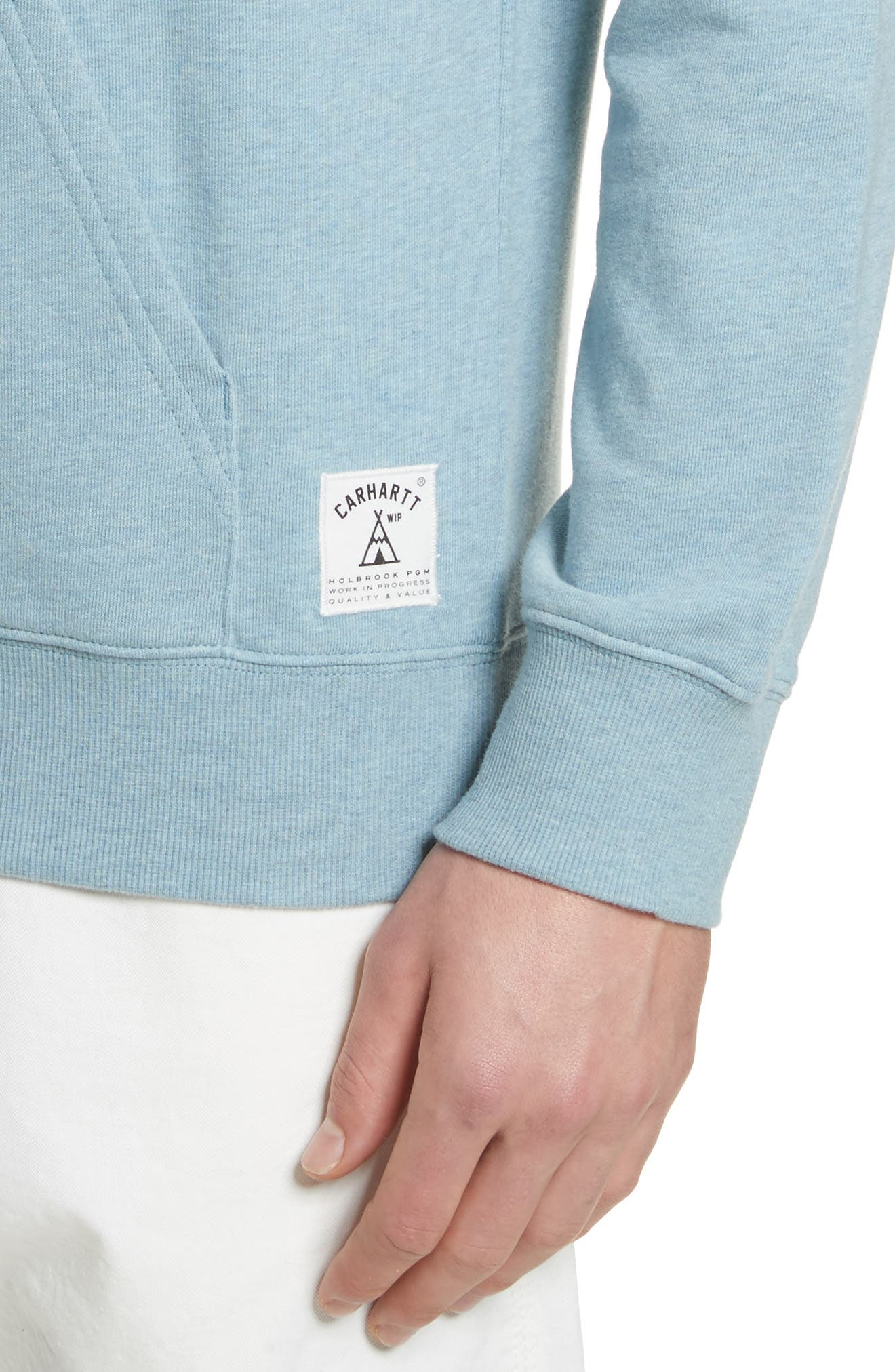 Holbrook Hoodie,                             Alternate thumbnail 4, color,                             Dusty Blue Heather