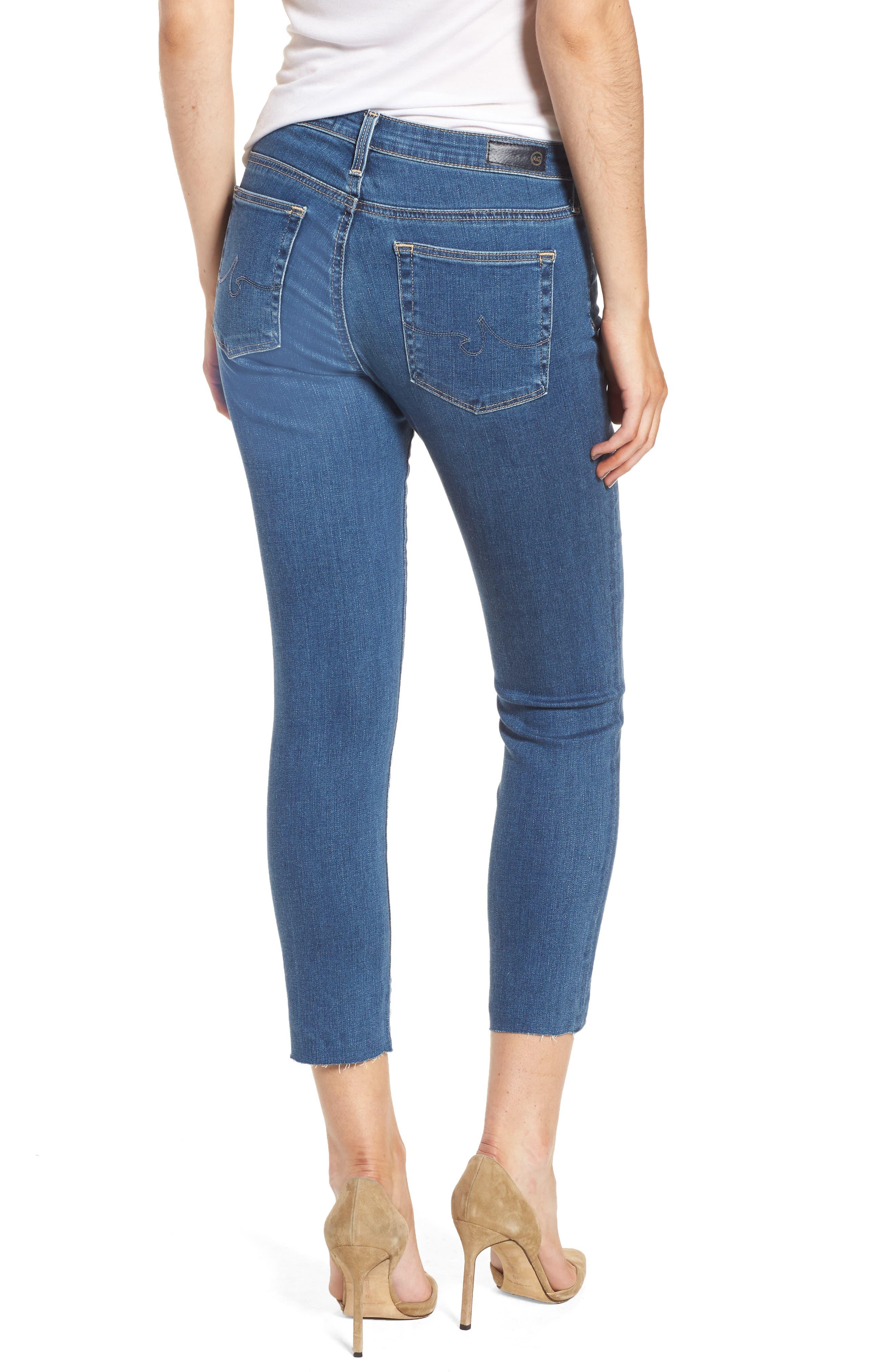 Alternate Image 2  - AG Prima Crop Skinny Jeans (Indigo Viking)