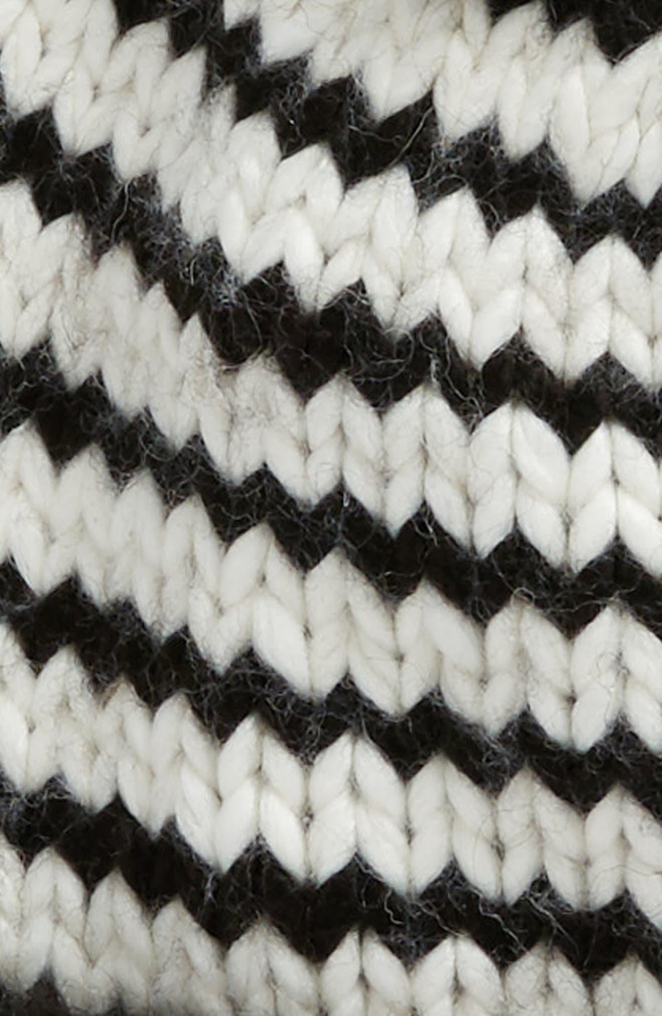 ma cherie hand knit pom beanie,                             Alternate thumbnail 2, color,                             Cream