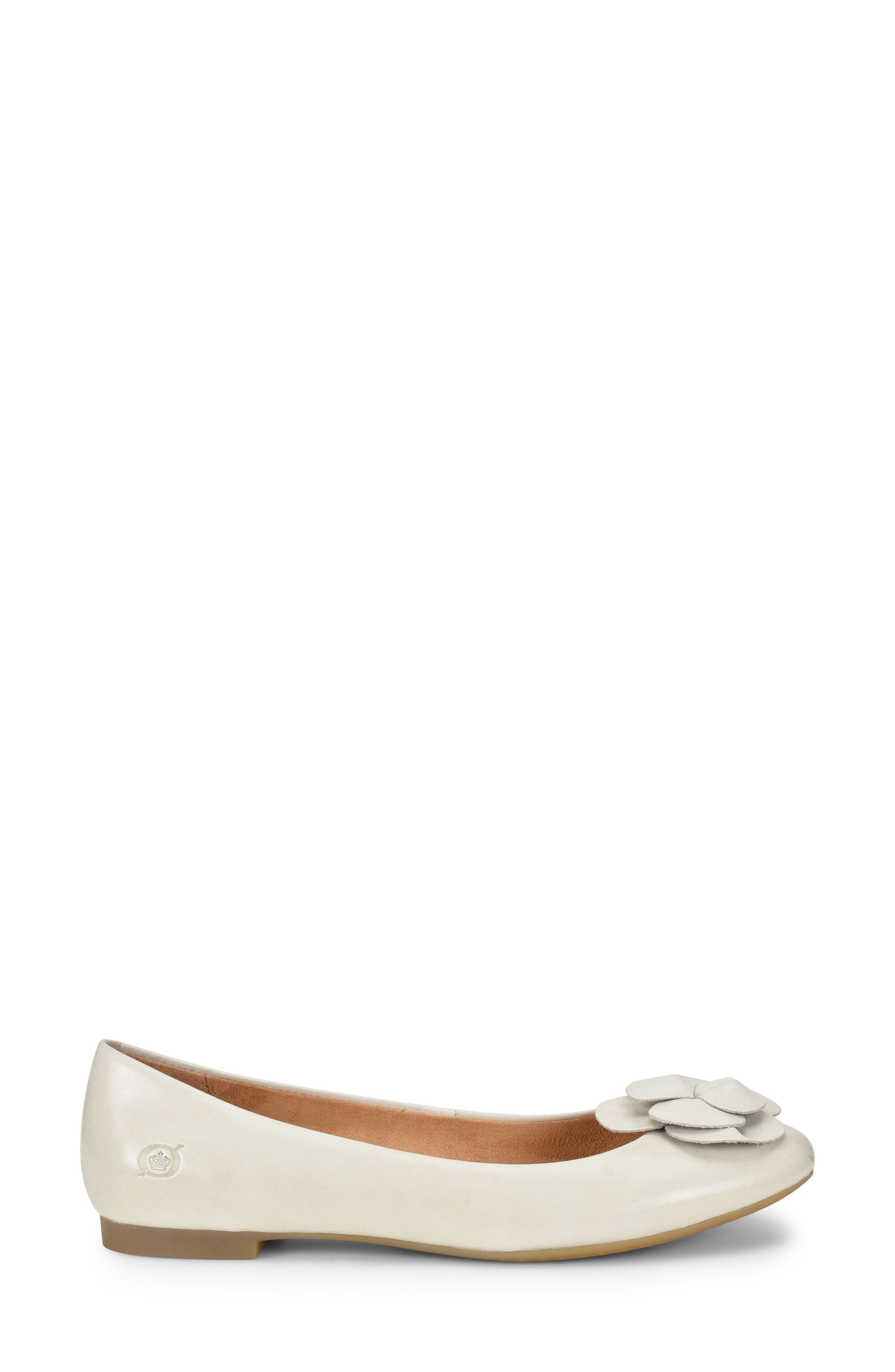 Annelie Flat,                             Alternate thumbnail 3, color,                             White Leather
