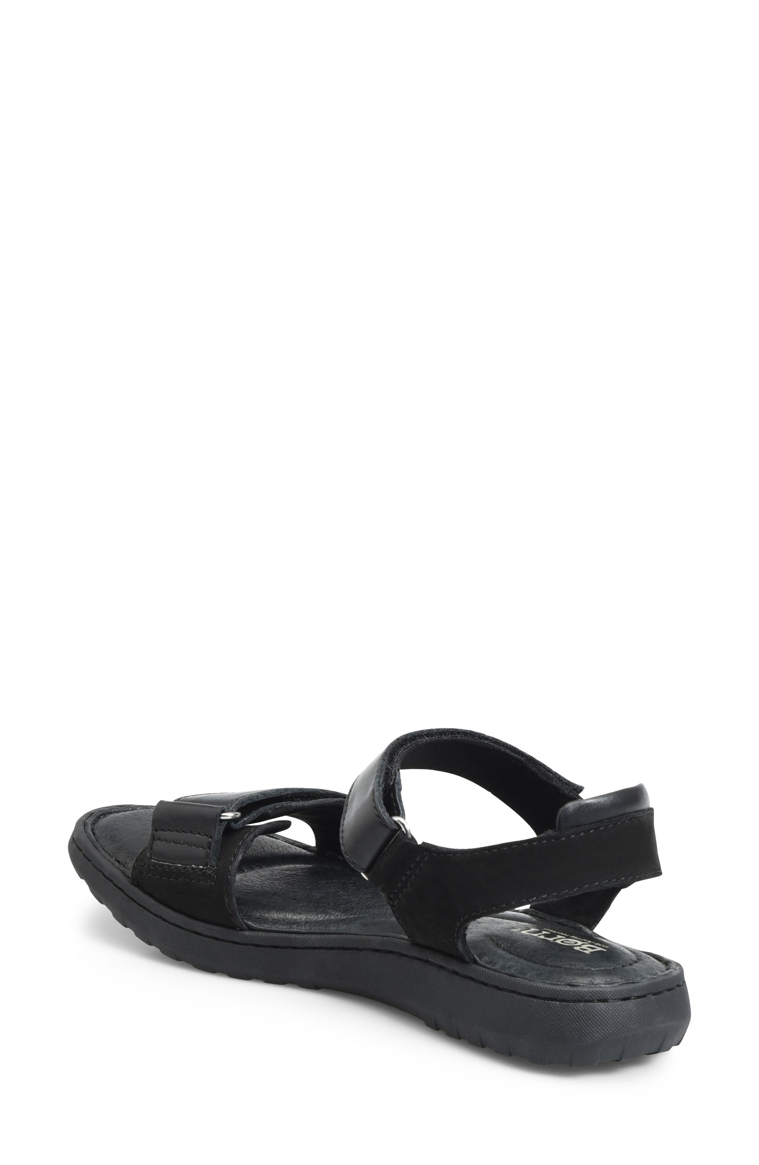 Nirvana Sandal,                             Alternate thumbnail 2, color,                             Black Leather