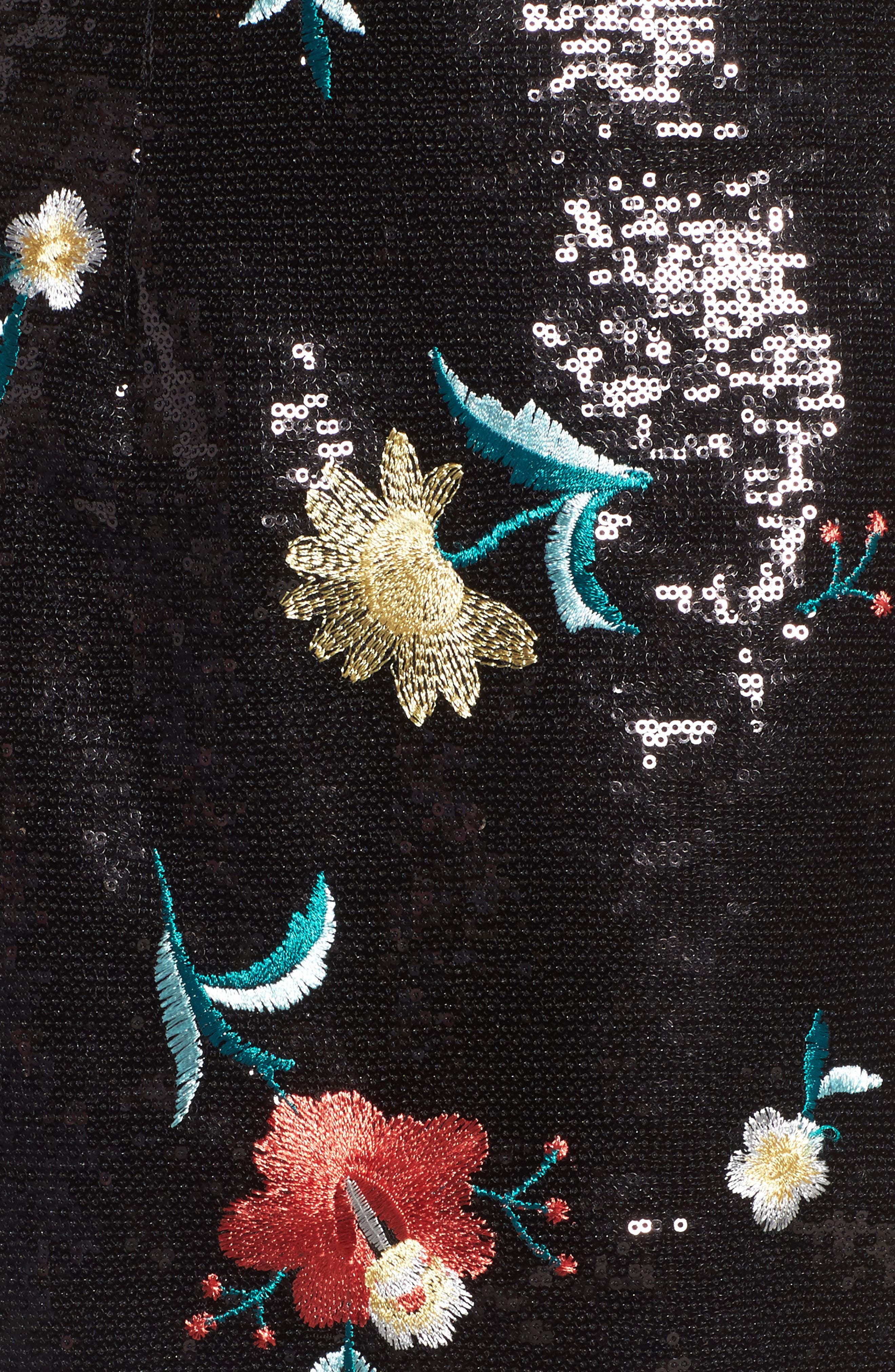 Noma Sequin Miniskirt,                             Alternate thumbnail 6, color,                             Black
